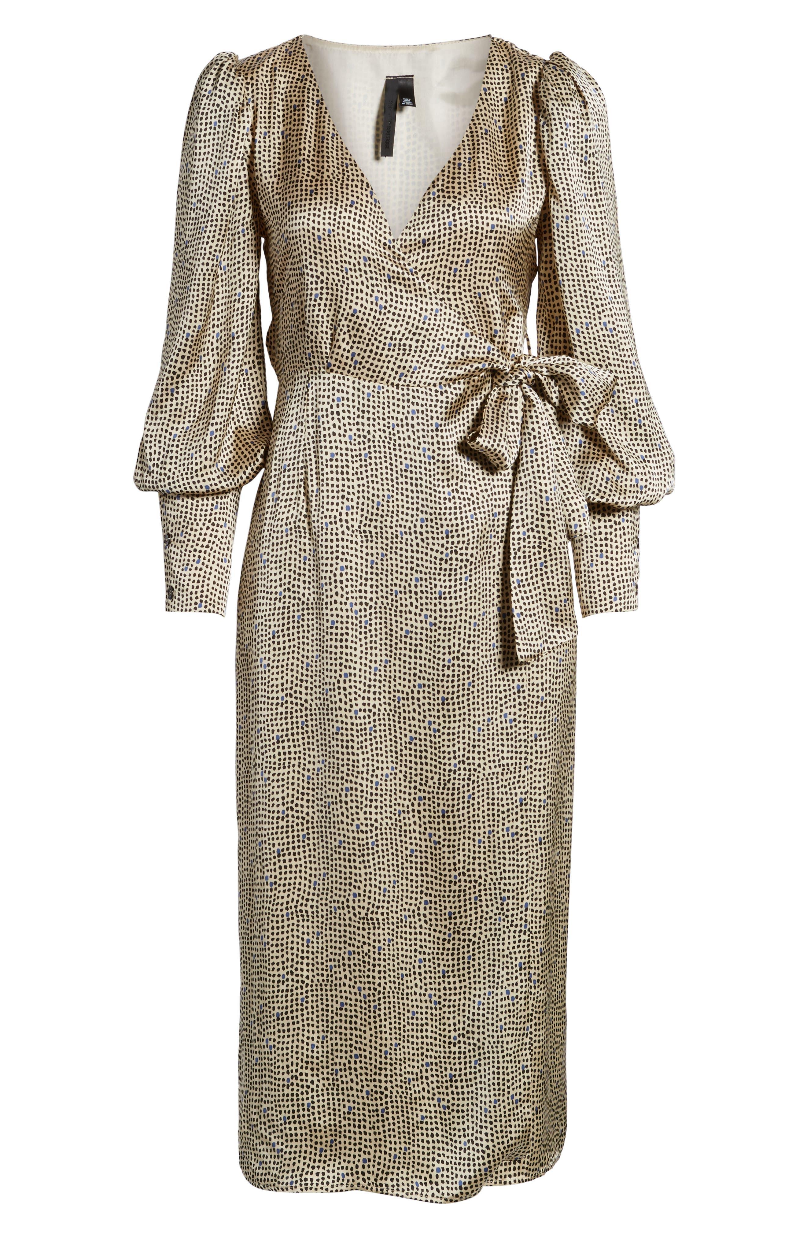 Mini Spot Wrap Dress,                             Alternate thumbnail 6, color,