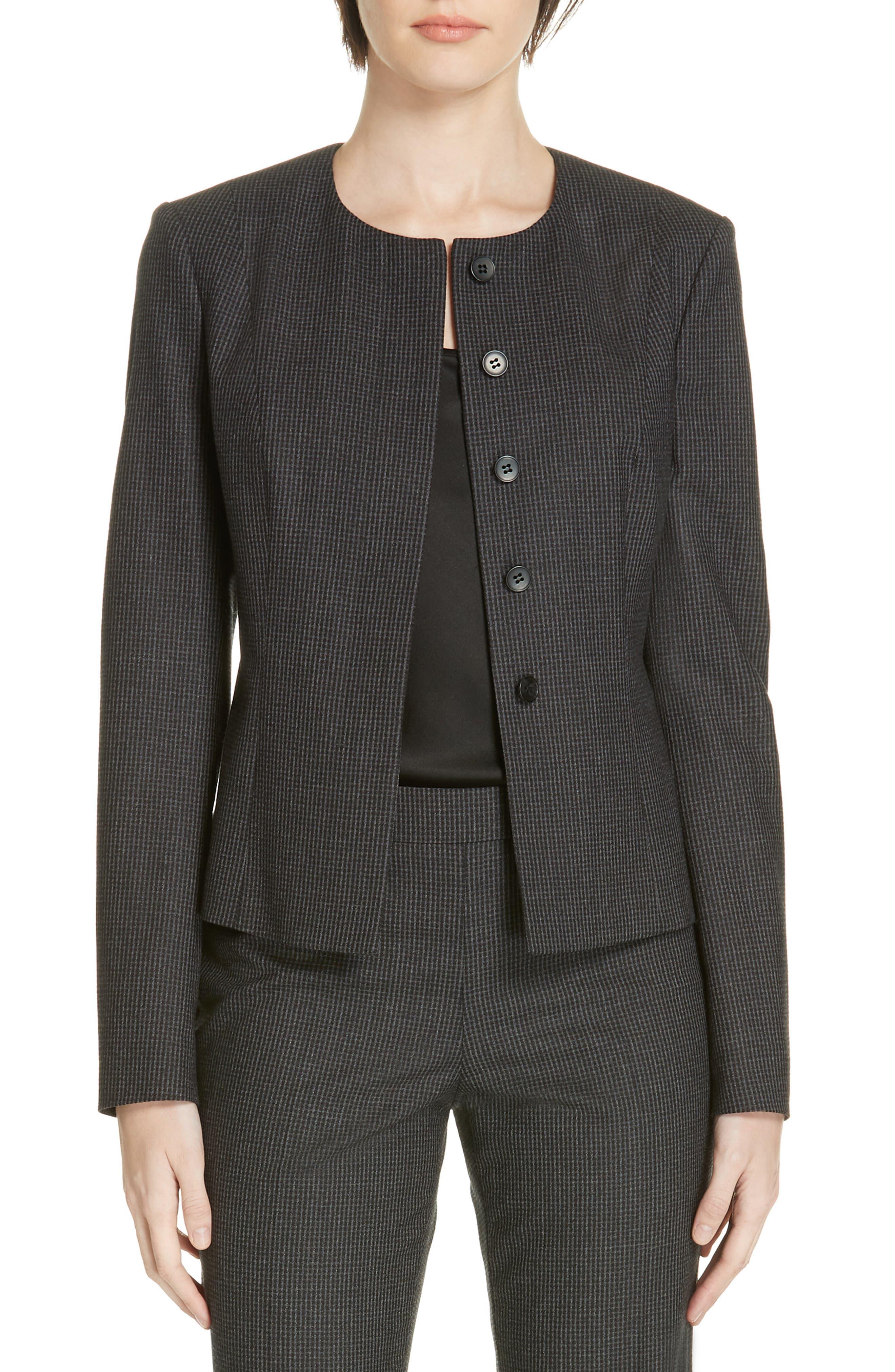 Javilla Wool Suit Jacket,                             Main thumbnail 1, color,                             CHARCOAL FANTASY