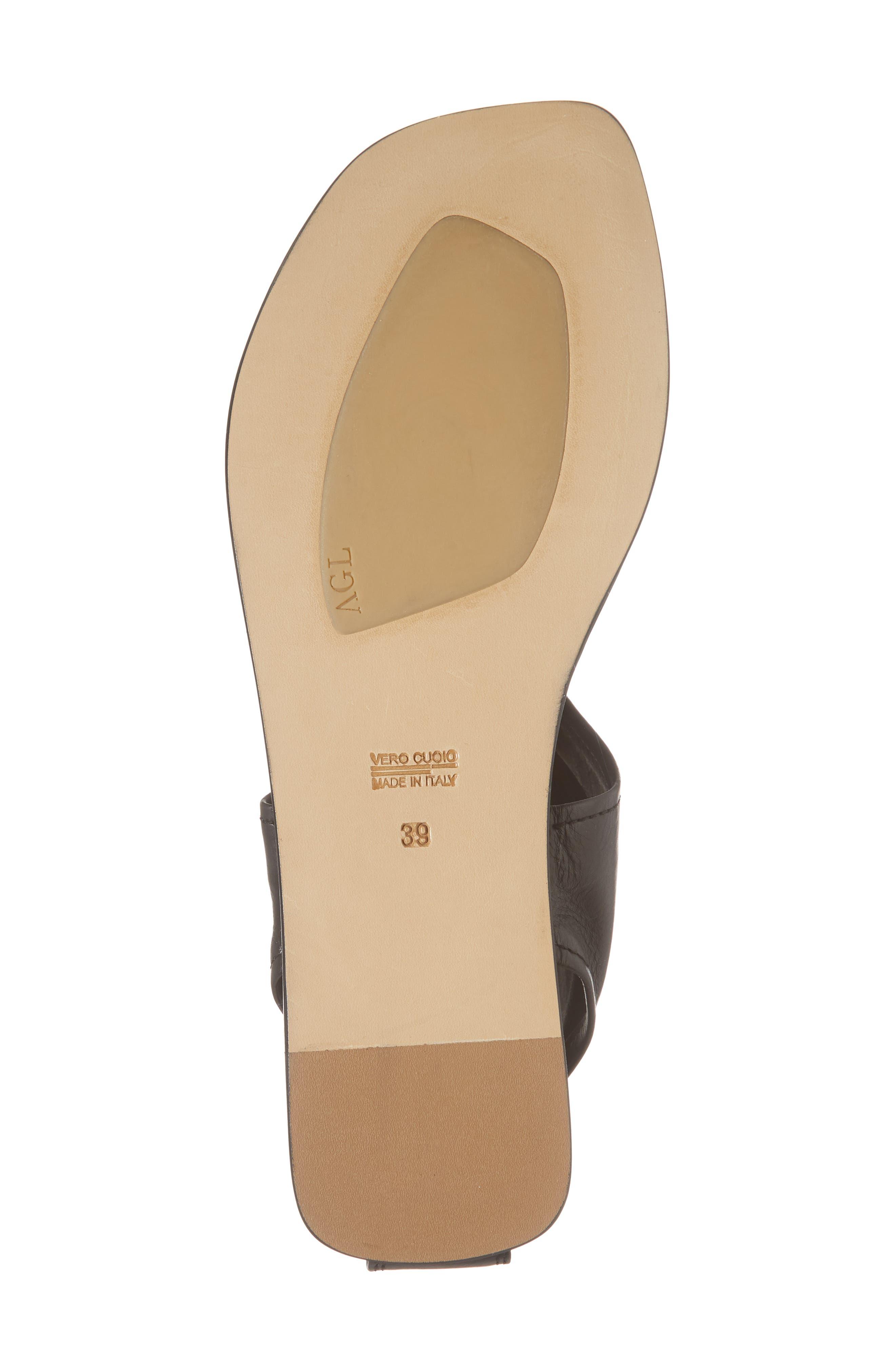 Ankle Shield Thong Sandal,                             Alternate thumbnail 6, color,                             001