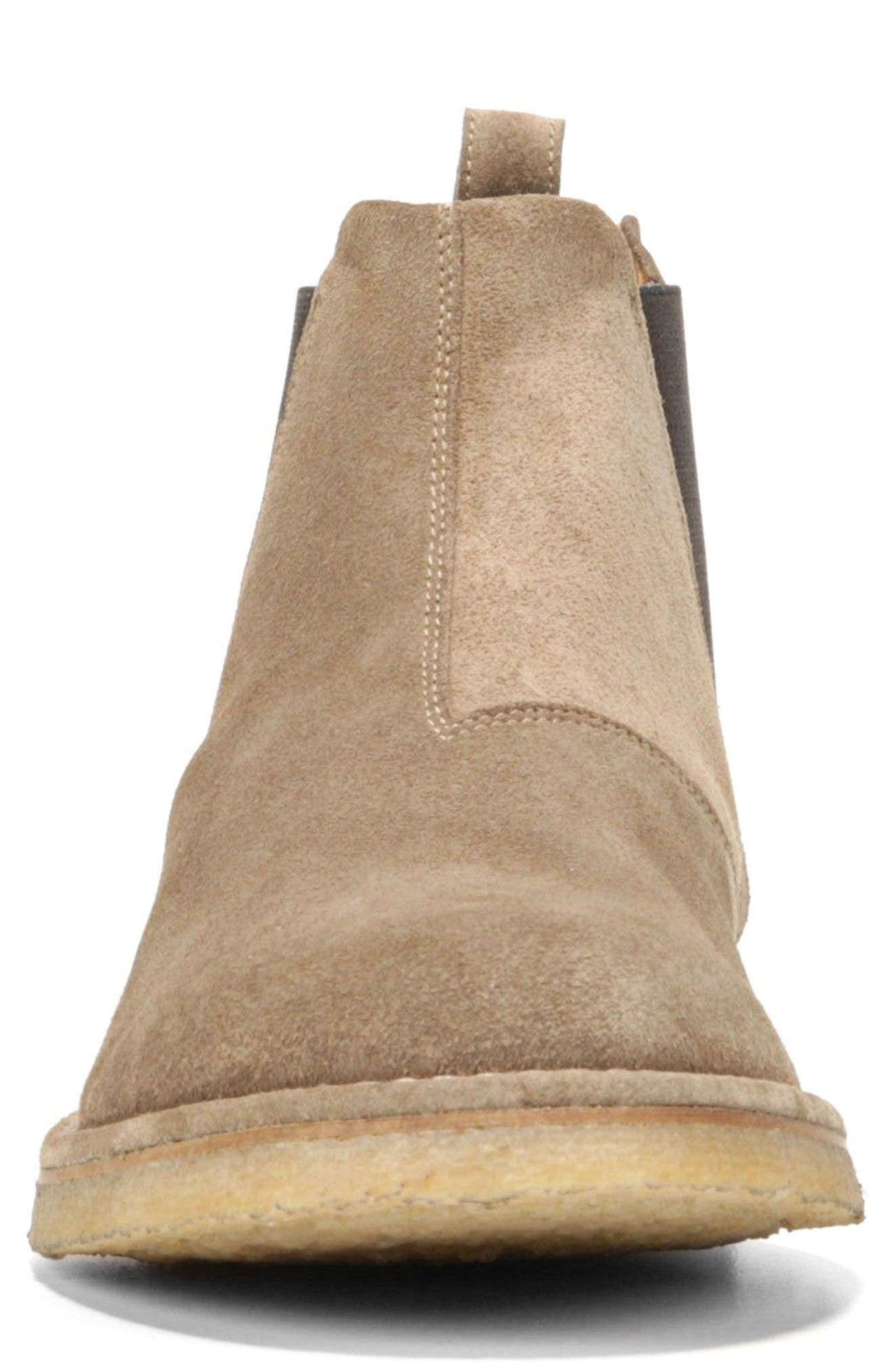 'Sawyer' Chelsea Boot,                             Alternate thumbnail 4, color,                             FLINT SUEDE