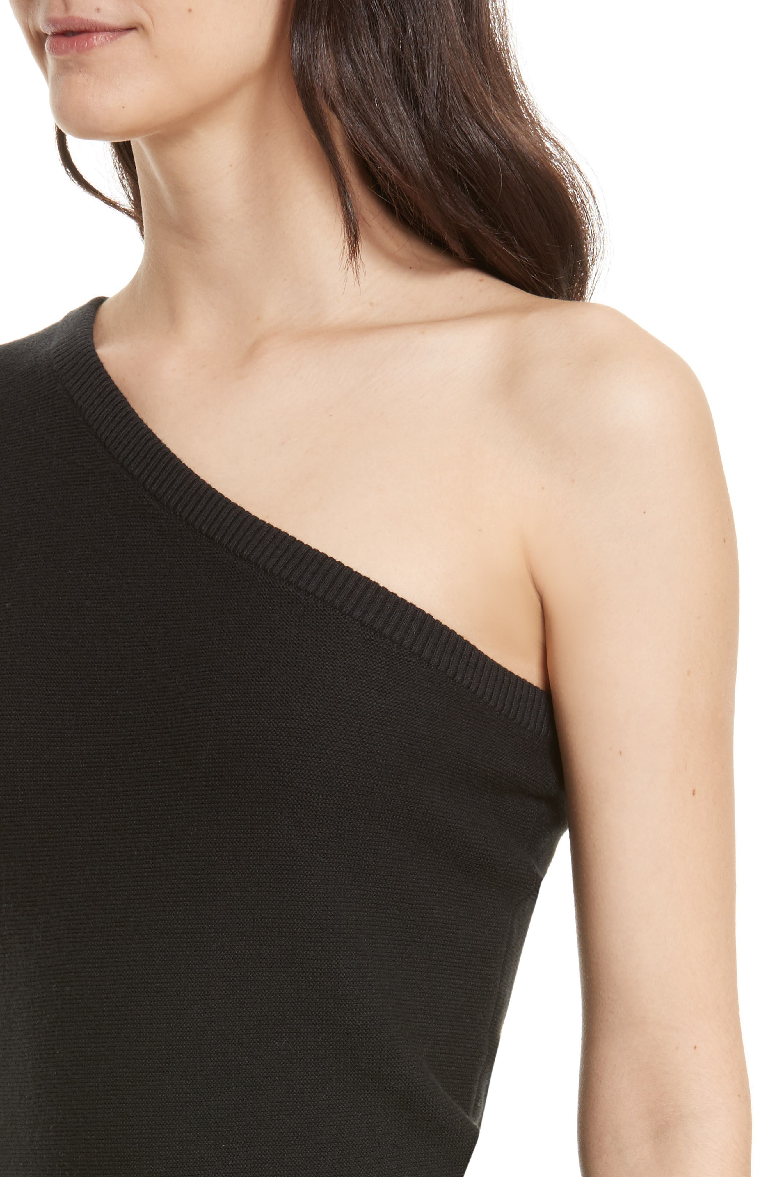 Wappo One-Shoulder Sweater,                             Alternate thumbnail 4, color,                             001
