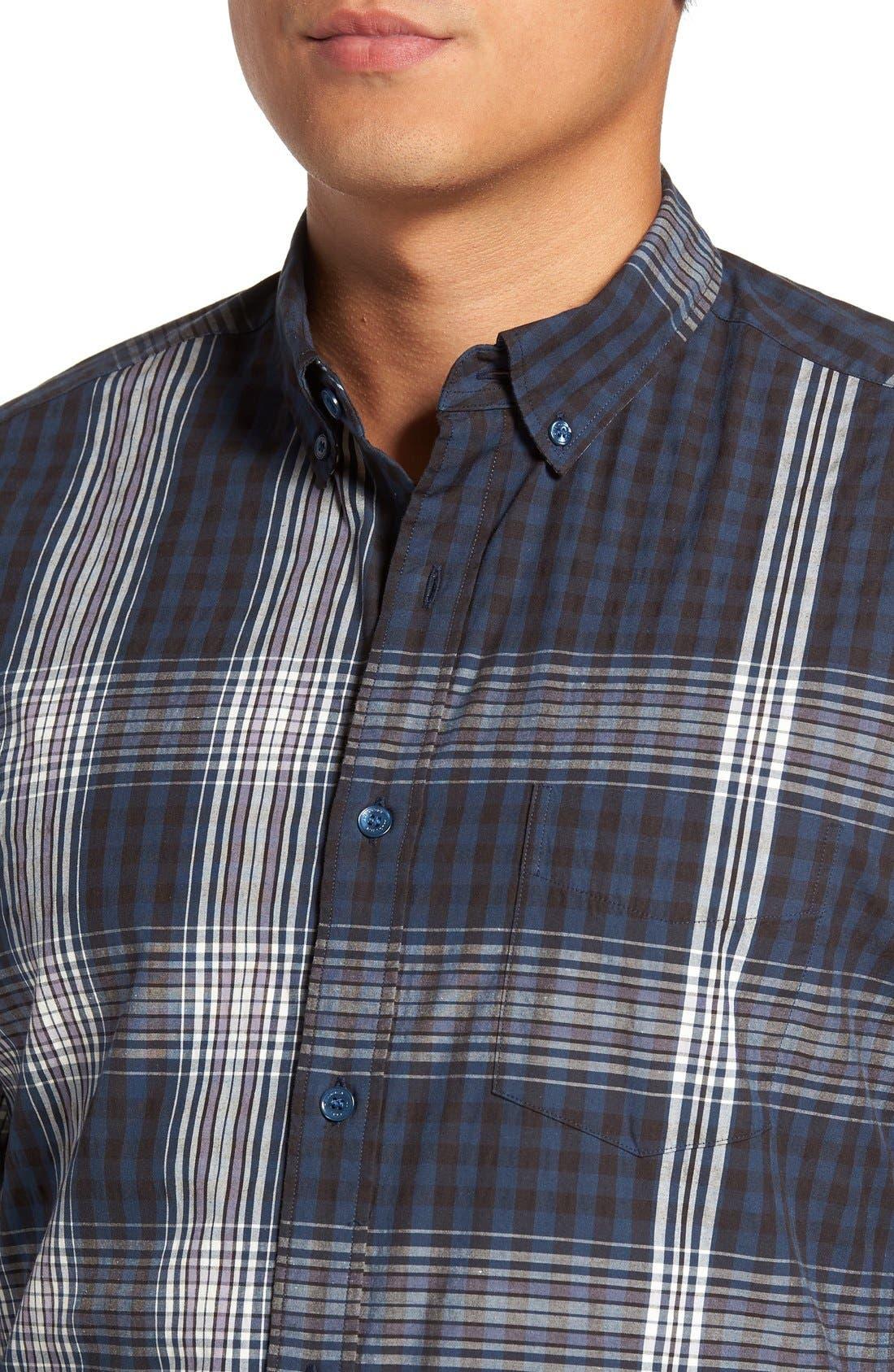 'Blackrock' Trim Fit Plaid Sport Shirt,                             Alternate thumbnail 4, color,                             410