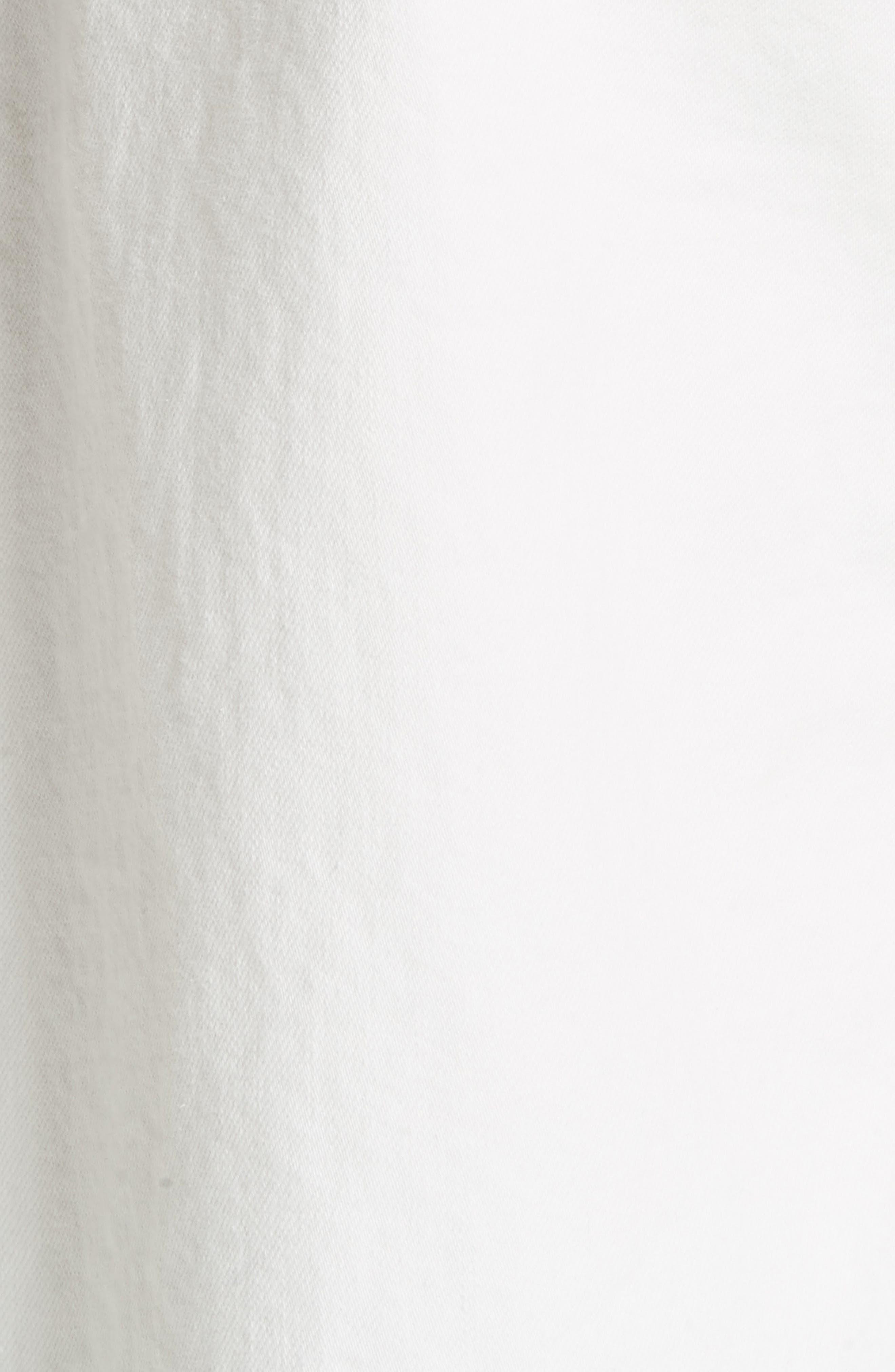 Lamere Wide Leg Crop Jeans,                             Alternate thumbnail 5, color,                             WHITE