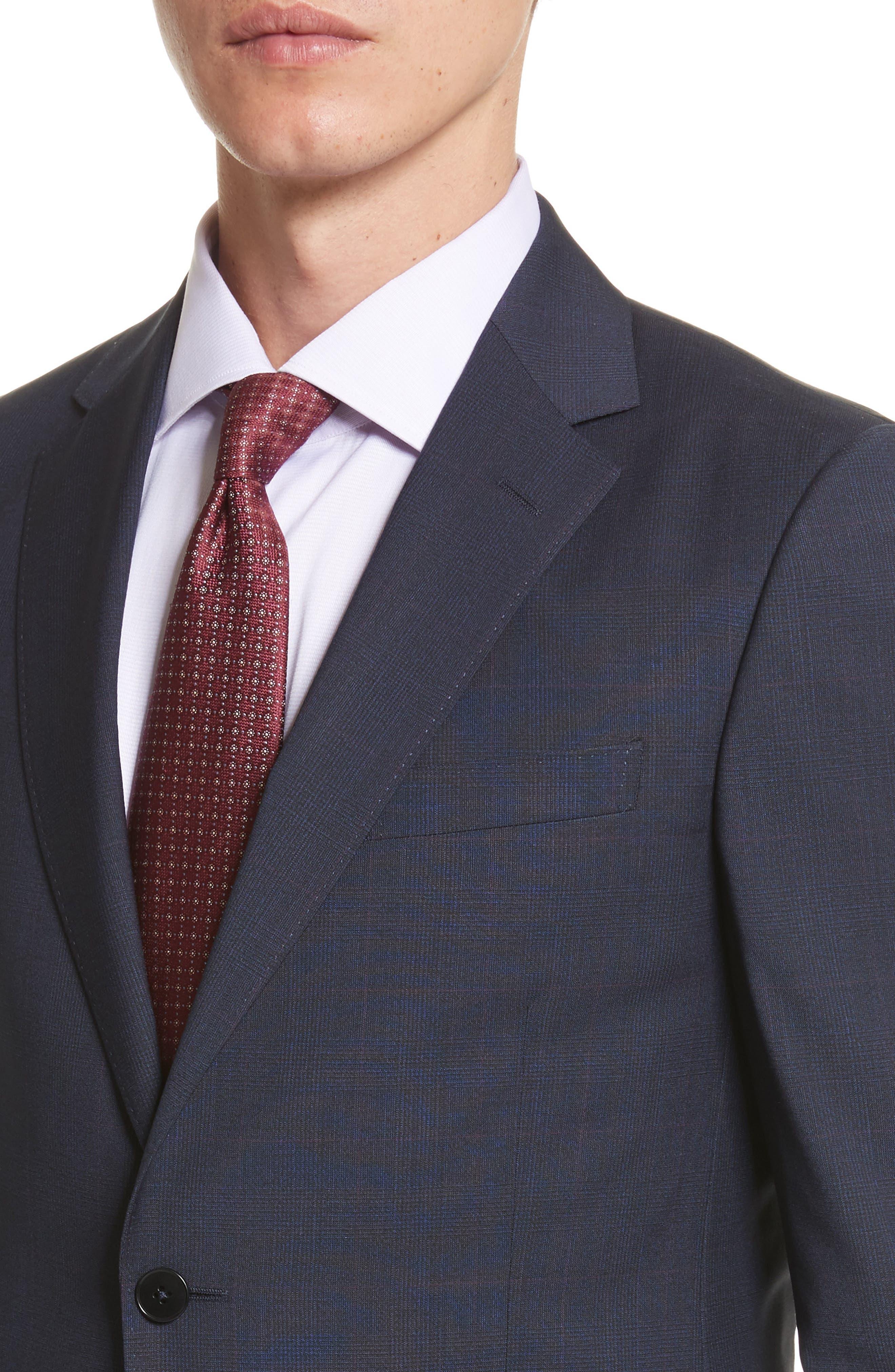 Classic Fit Check Wool Suit,                             Alternate thumbnail 4, color,                             416