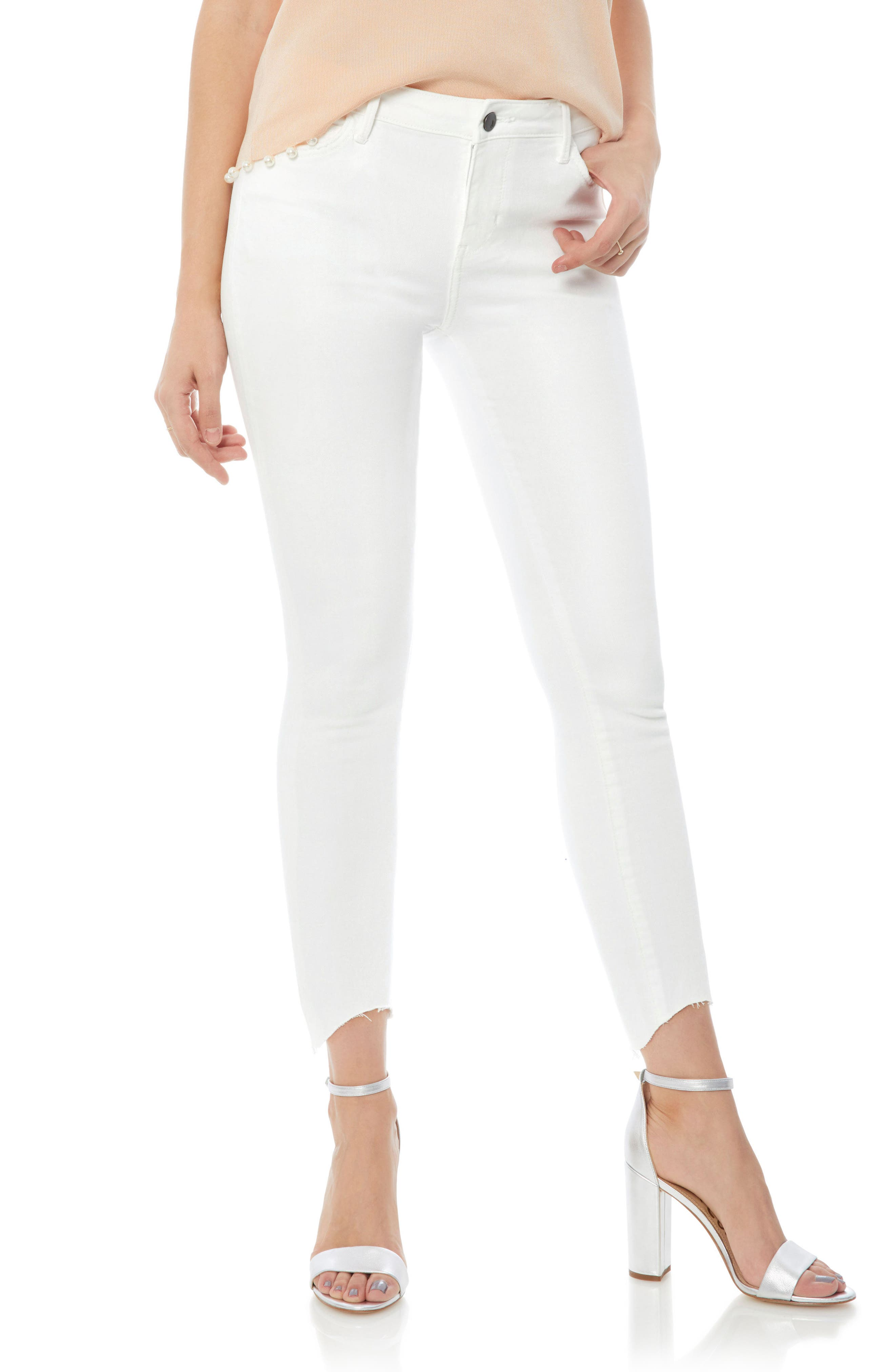 The Kitten Raw Edge Ankle Skinny Jeans,                             Main thumbnail 1, color,