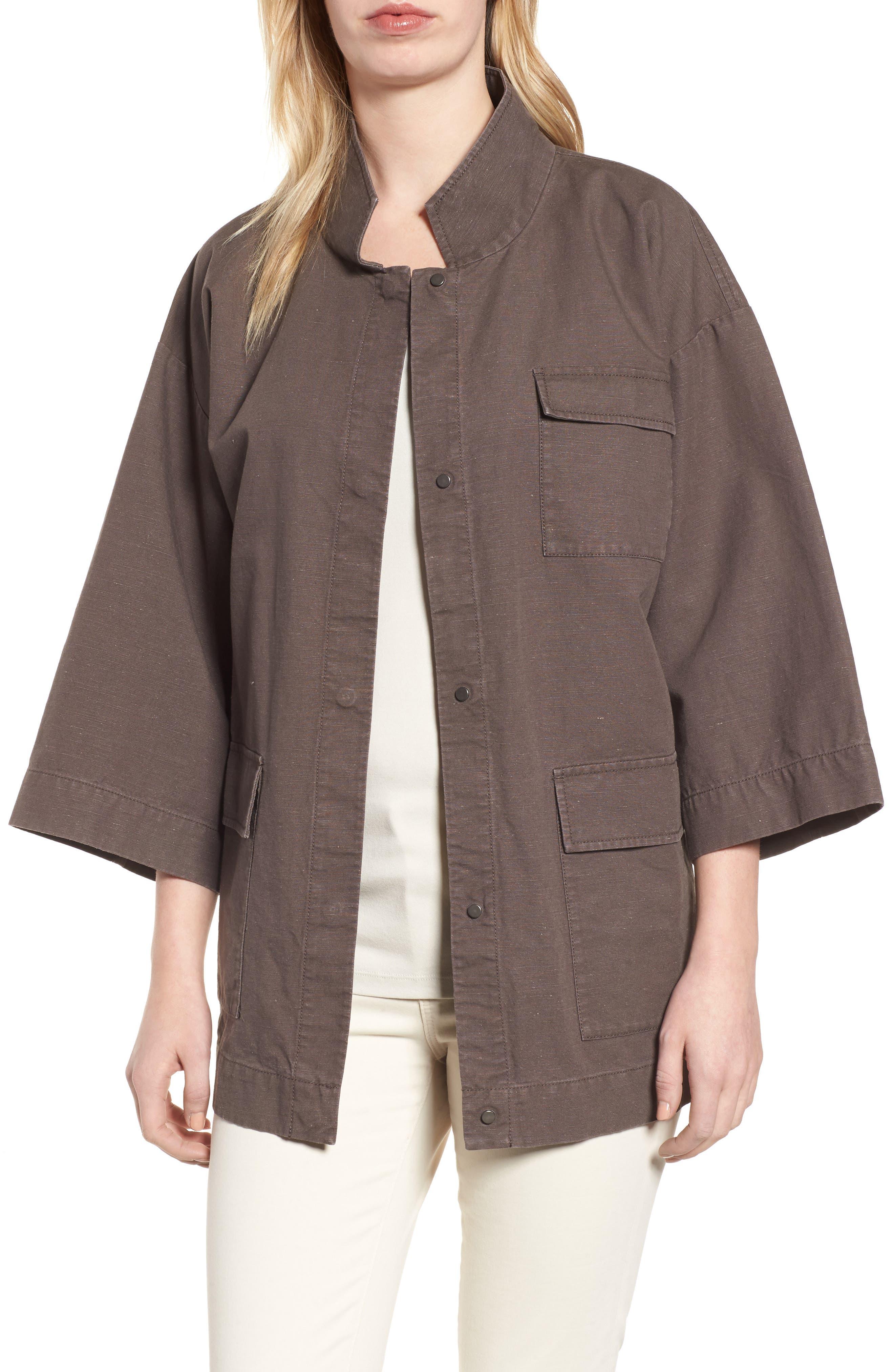 Organic Cotton & Hemp Jacket,                             Main thumbnail 1, color,                             024