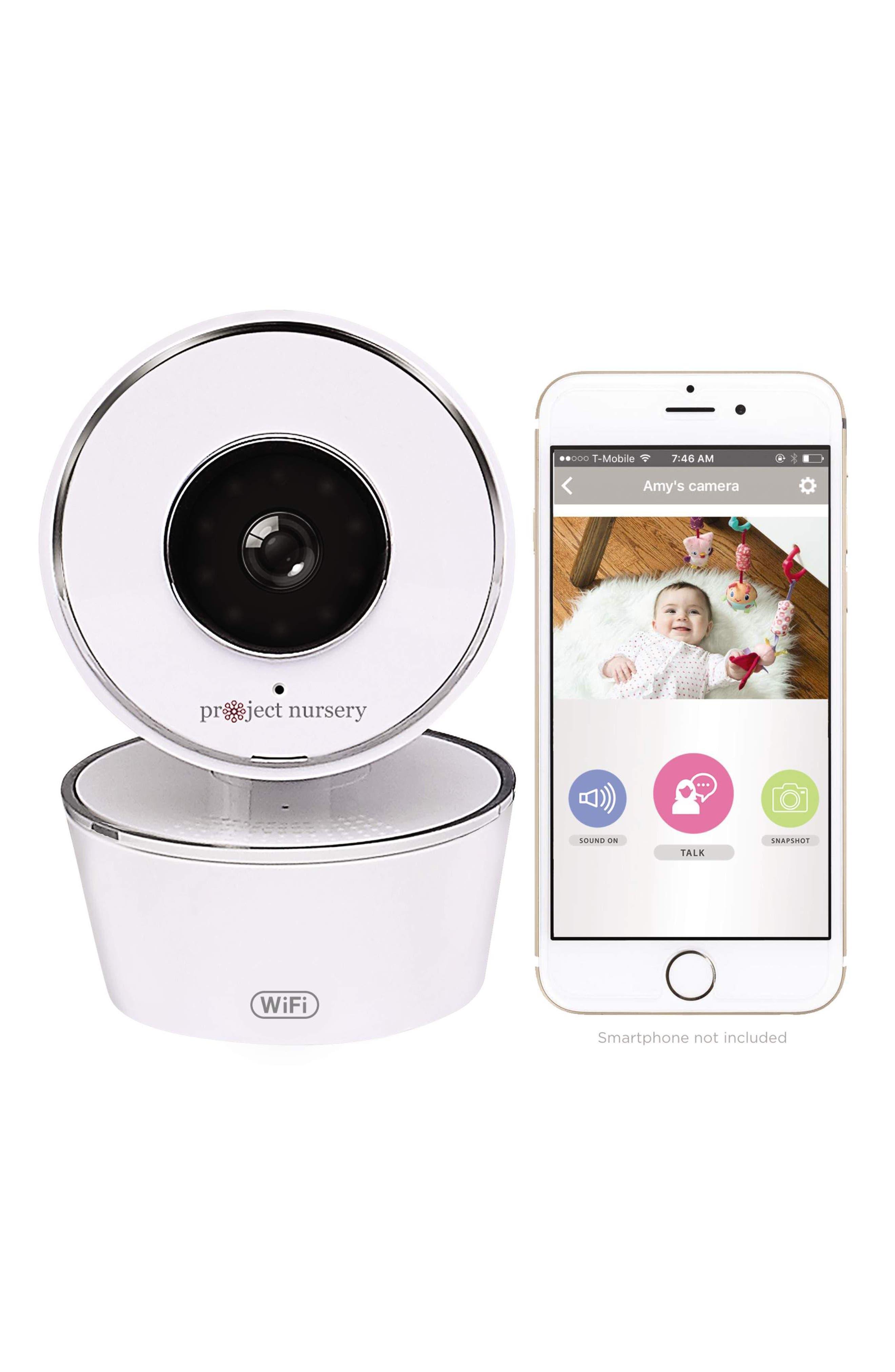 Smart Nursery Wi-Fi Baby Monitor,                             Main thumbnail 1, color,                             WHITE