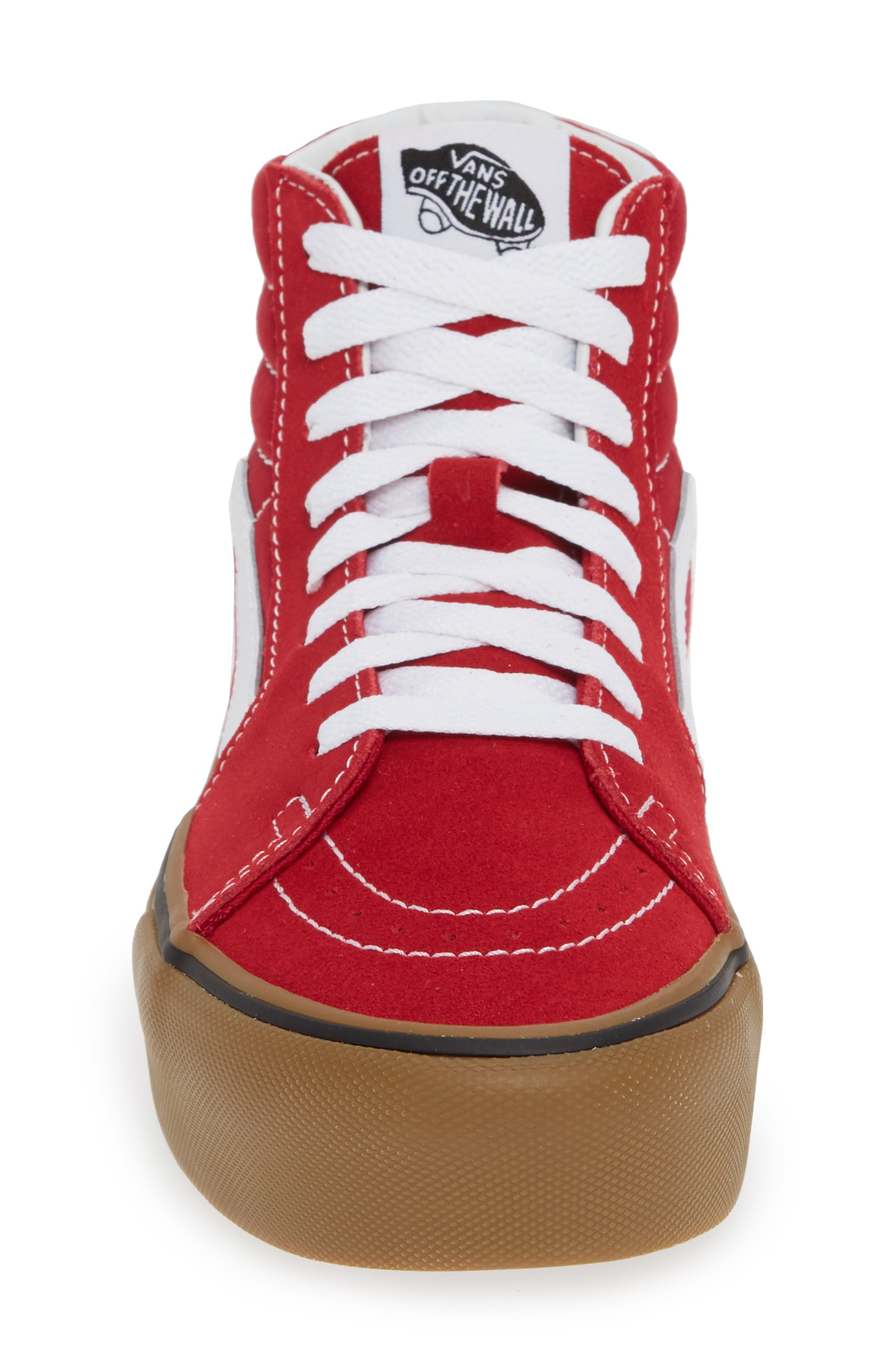 Sk8-Hi Platform Sneaker,                             Alternate thumbnail 4, color,                             SCOOTER/ TRUE WHITE