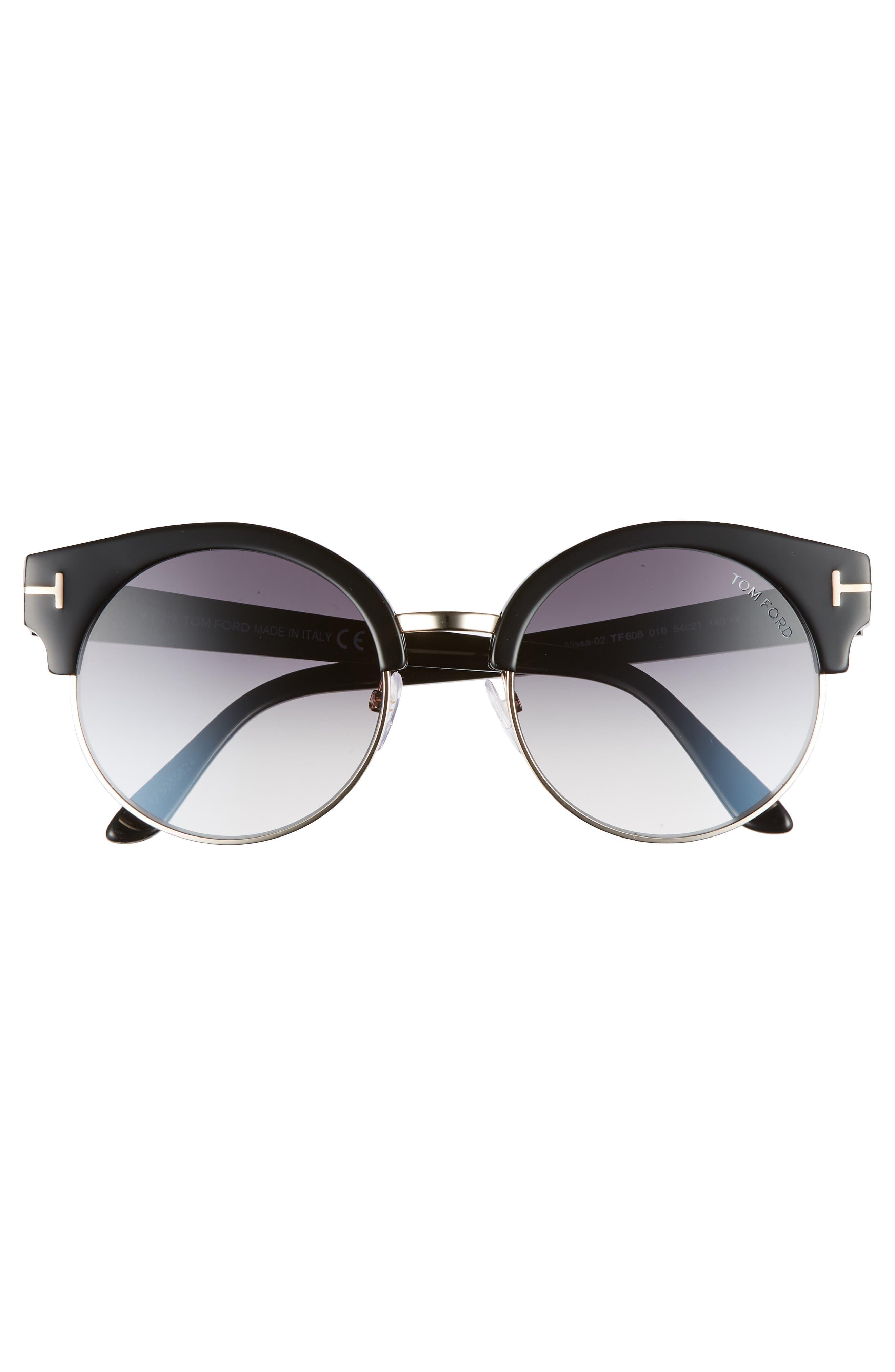 Alissa 54mm Sunglasses,                             Alternate thumbnail 3, color,                             012