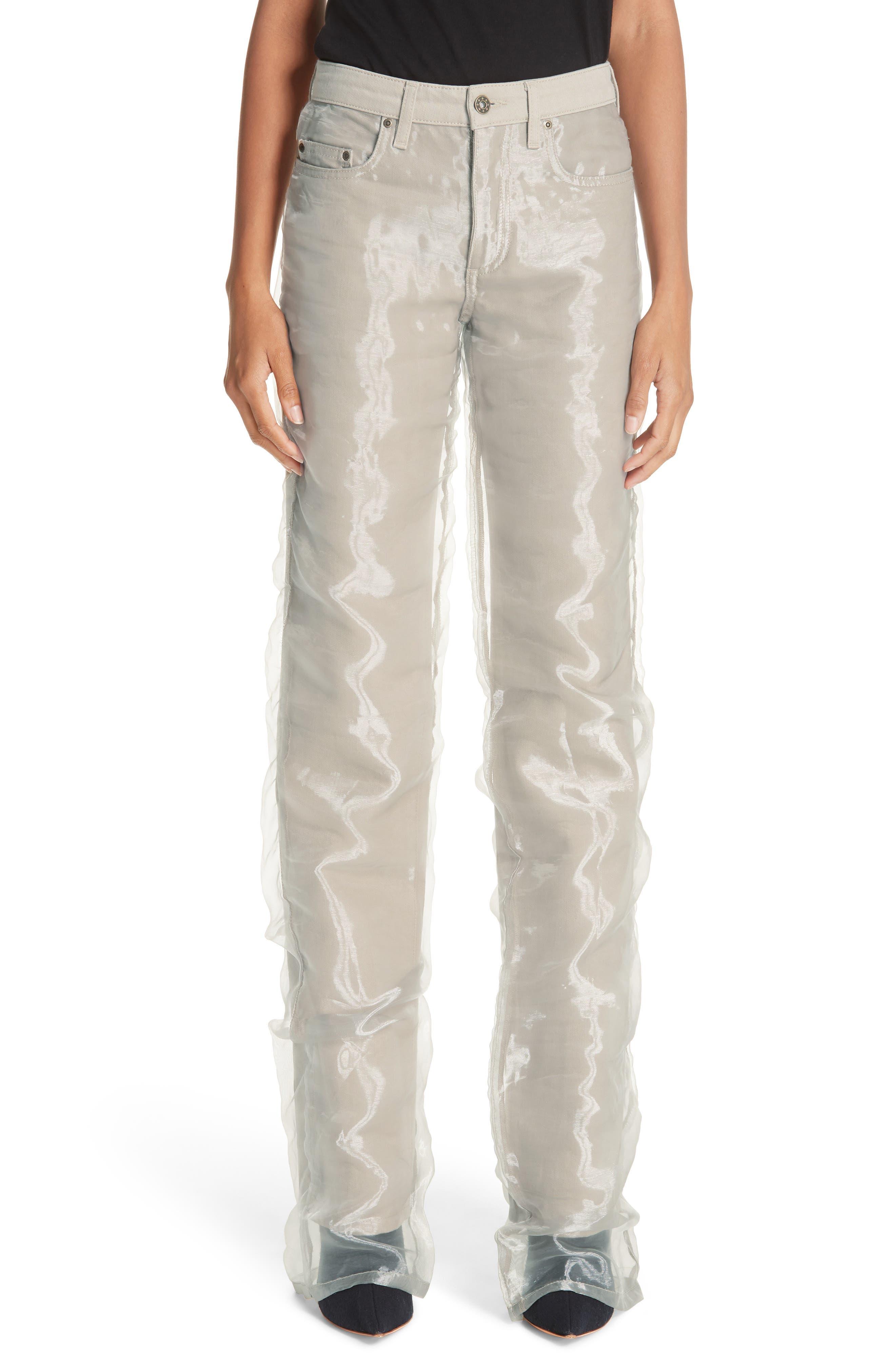 Organza Jeans,                         Main,                         color, SAND