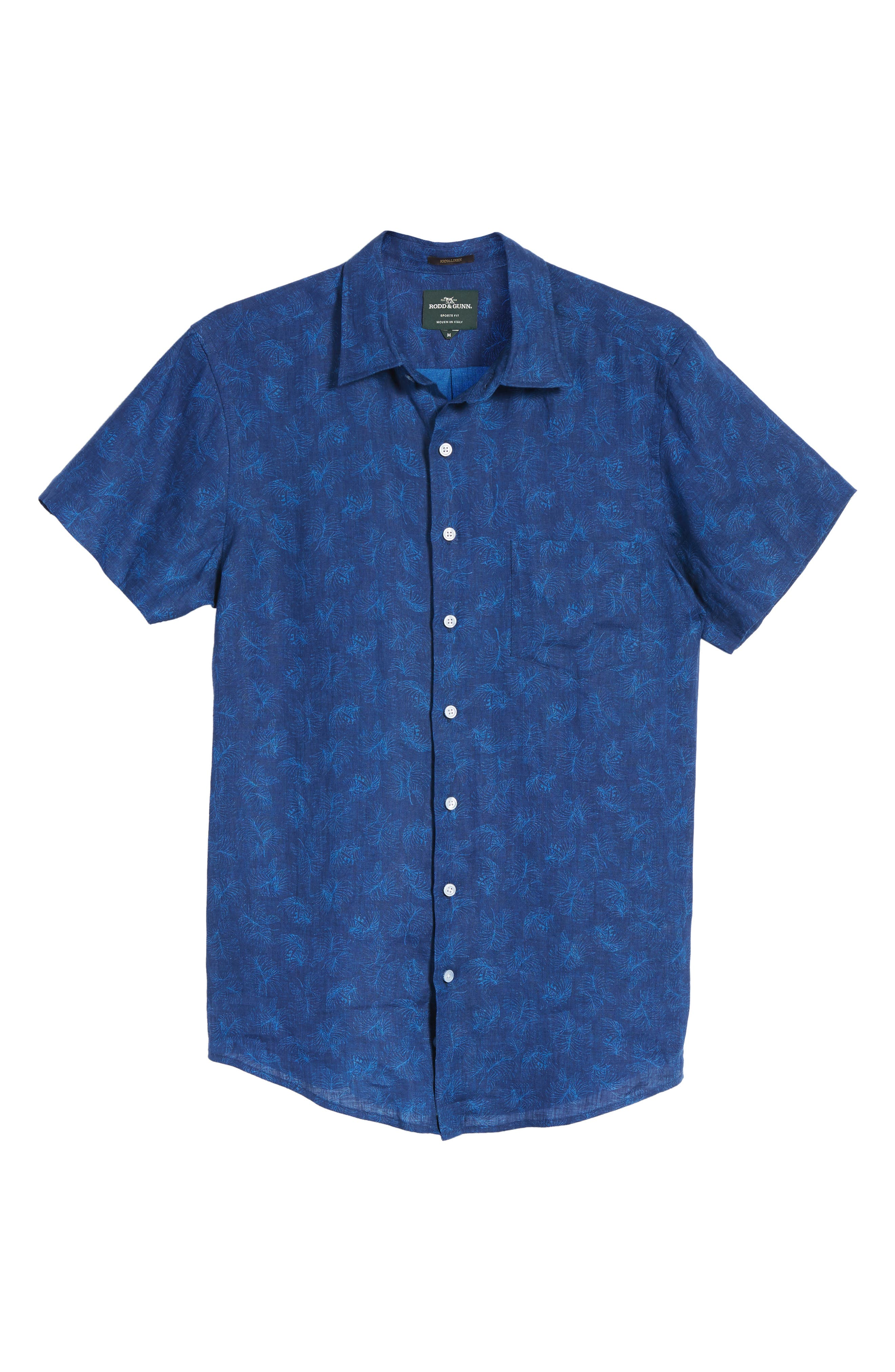 Hampton Downs Sports Fit Linen Sport Shirt,                             Alternate thumbnail 6, color,                             423
