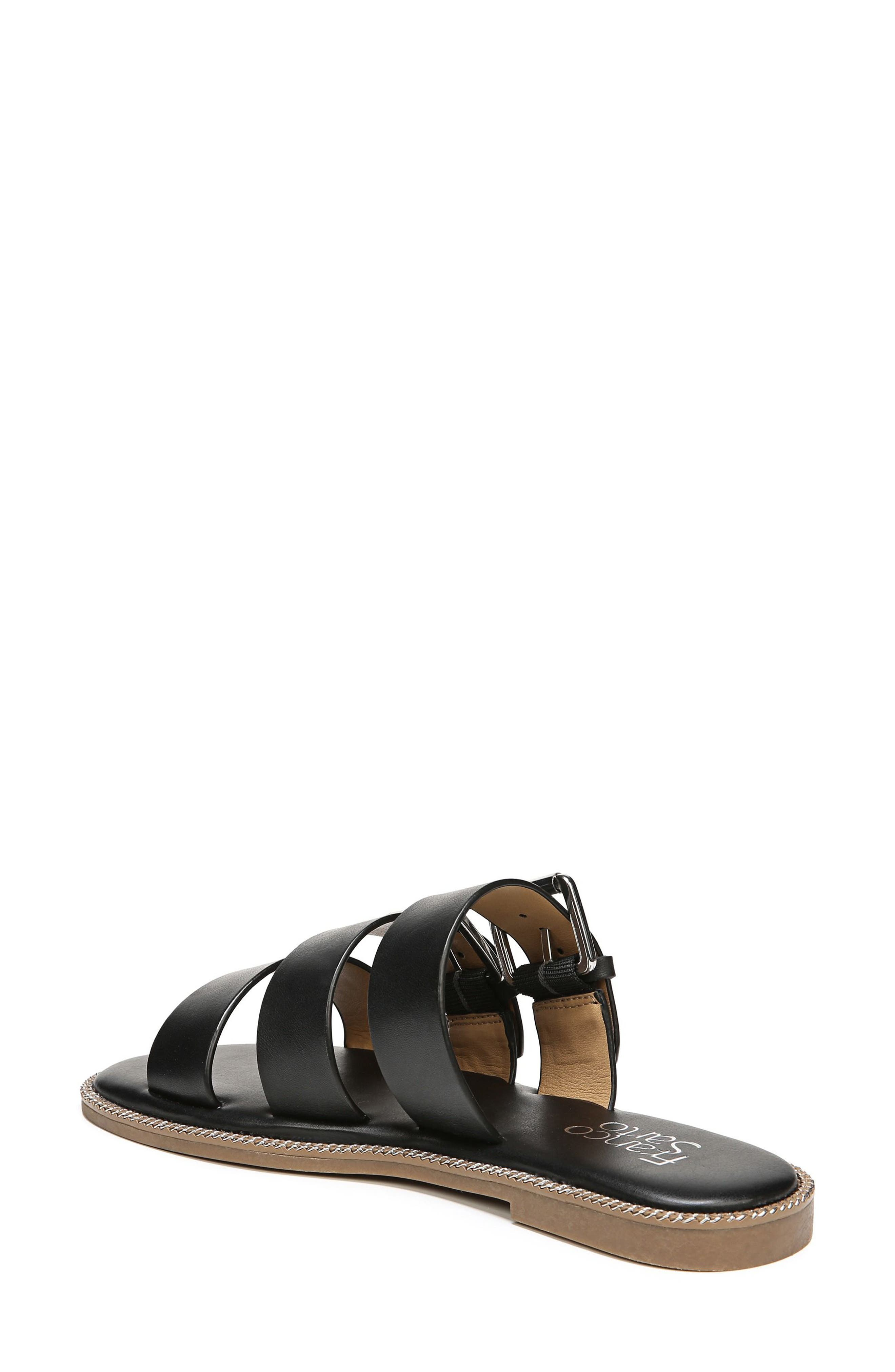 SARTO by Franco Sarto Kasa Three Strap Slide Sandal,                             Alternate thumbnail 2, color,                             BLACK LEATHER