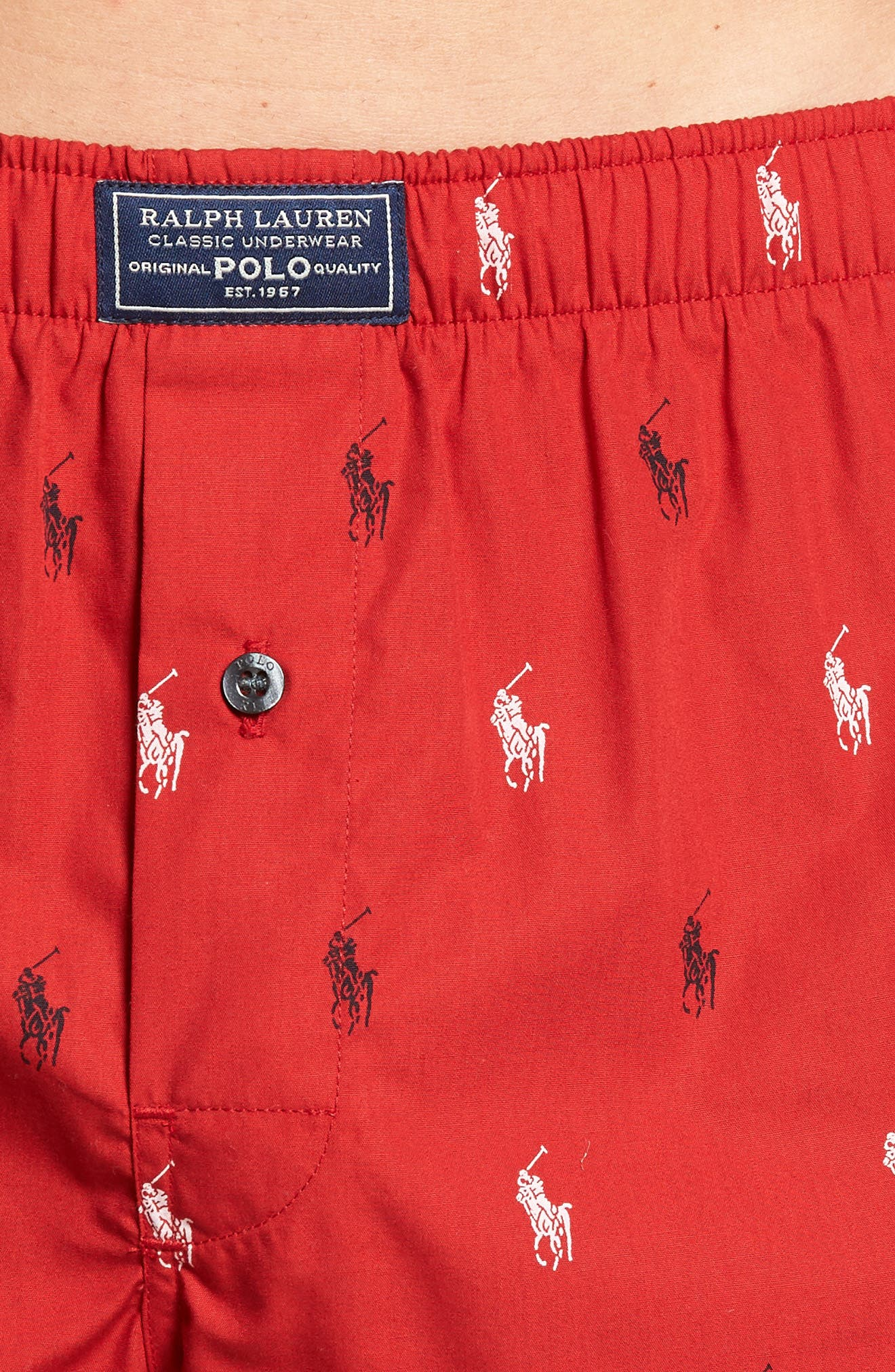 Cotton Boxers,                             Alternate thumbnail 4, color,                             RL RED/ CRUISE NAVY/ WHITE