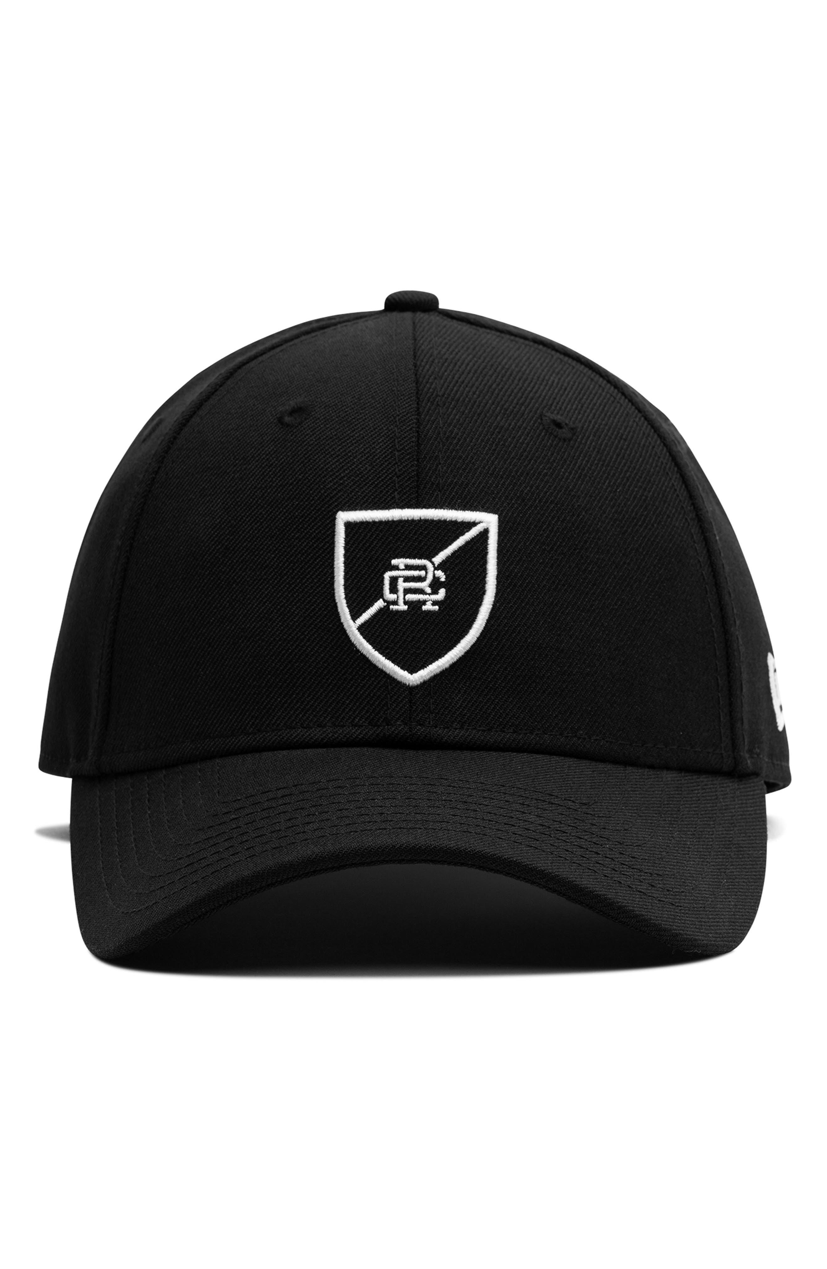 x New Era Shield Logo Ball Cap,                             Alternate thumbnail 2, color,                             001