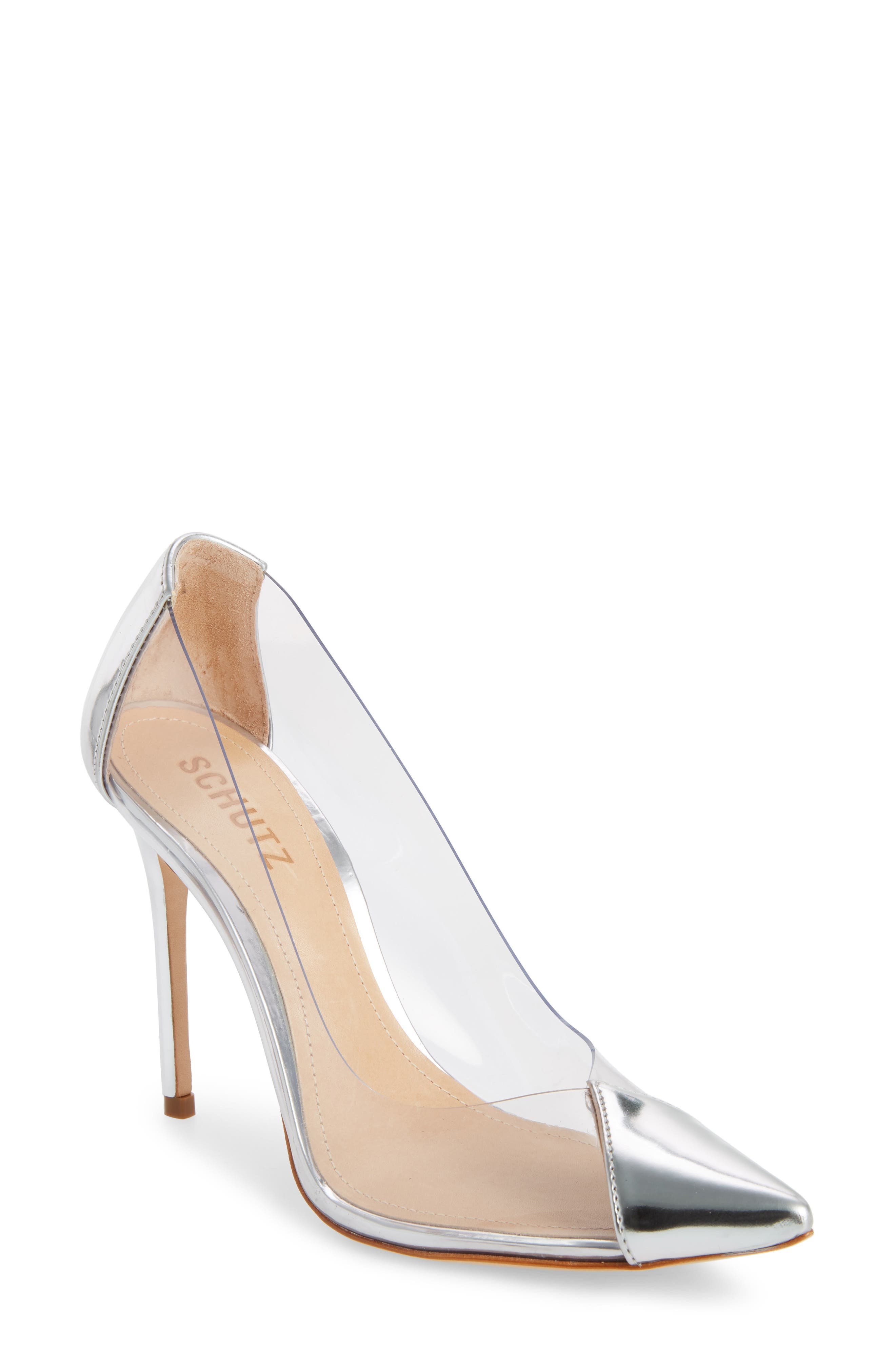 SCHUTZ Women'S Cendi Patent Leather High-Heel Pumps in Silver