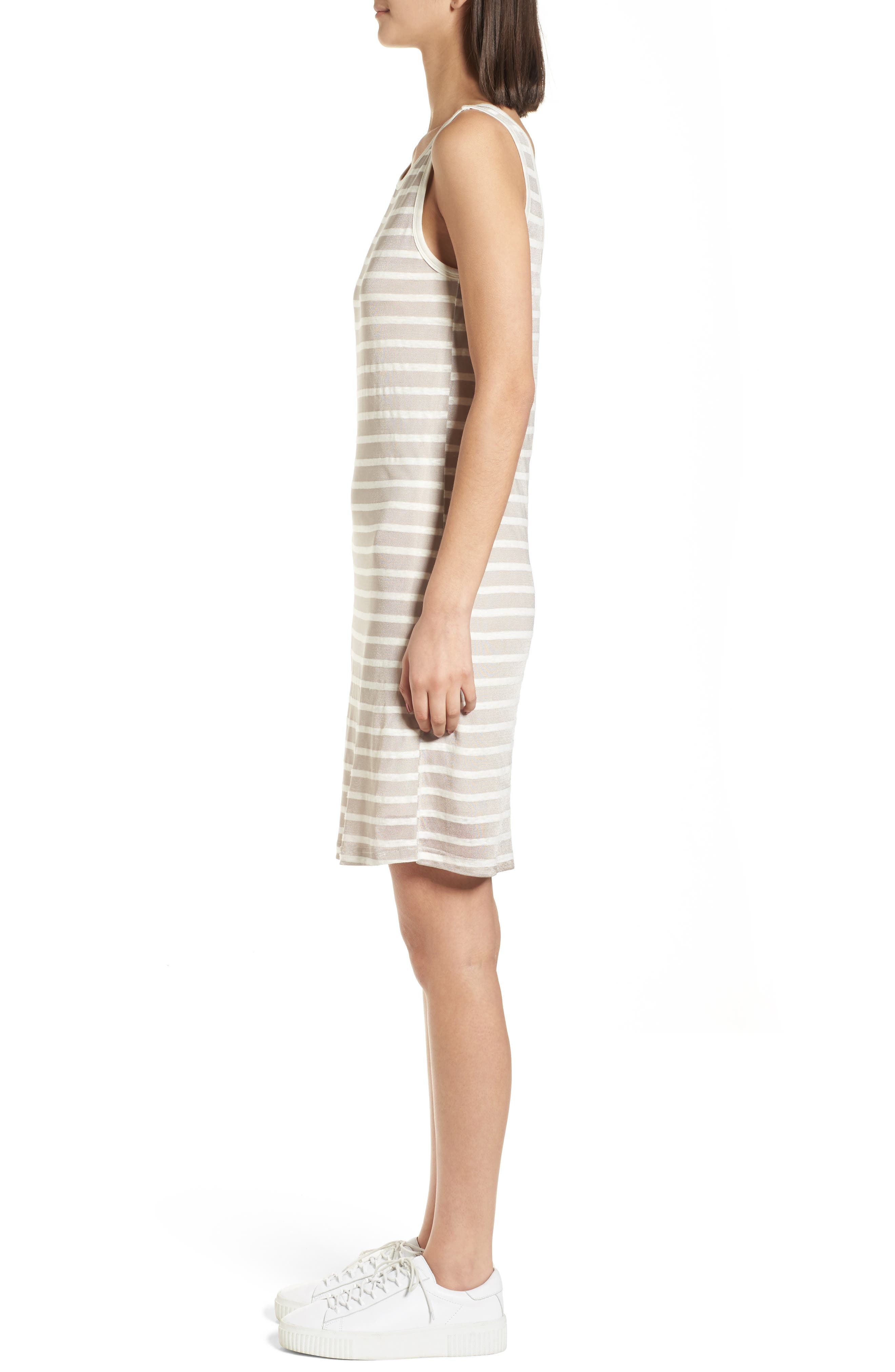 Stripe Linen Tank Dress,                             Alternate thumbnail 3, color,                             260