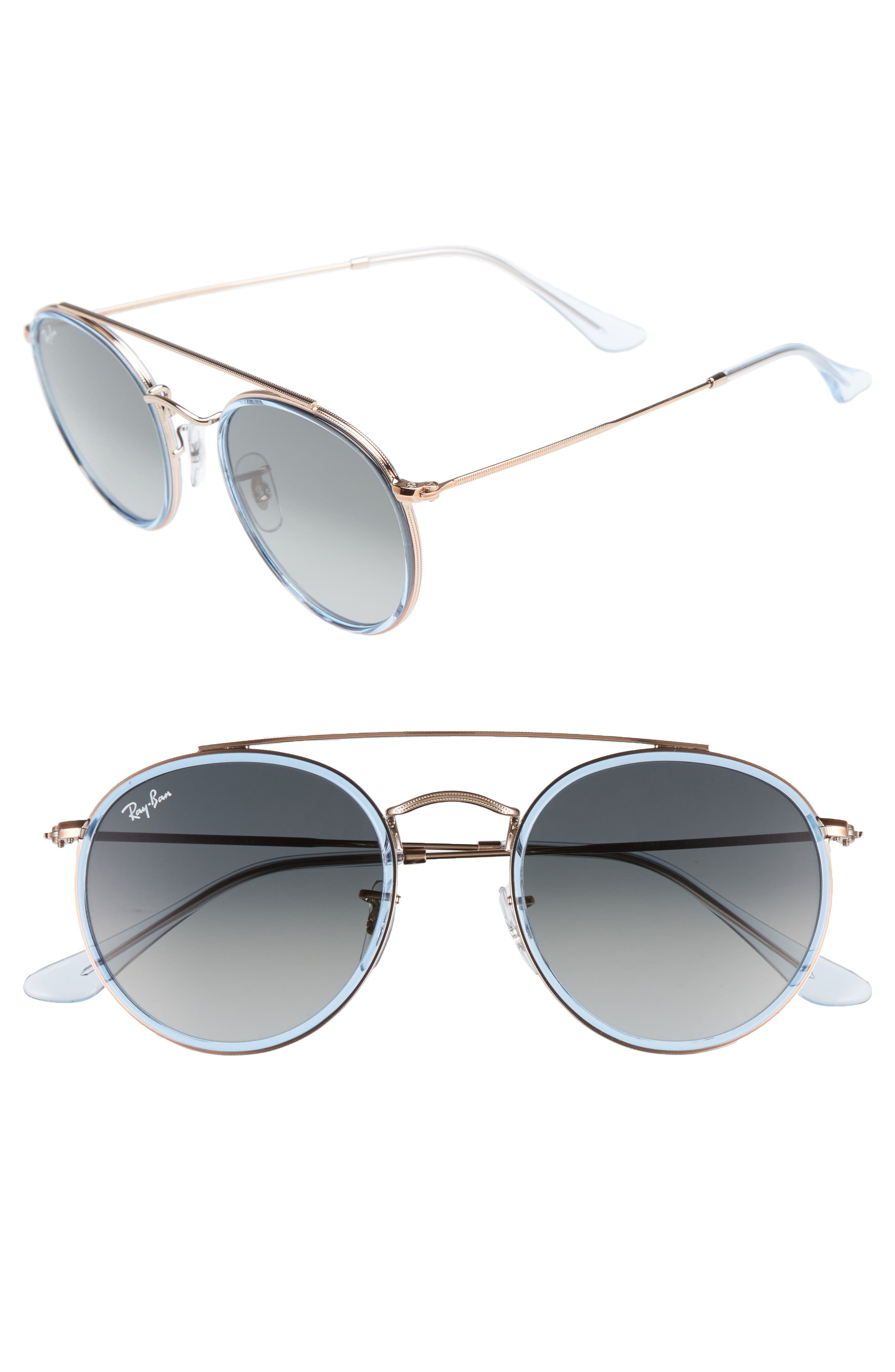 51mm Aviator Gradient Lens Sunglasses,                             Alternate thumbnail 6, color,