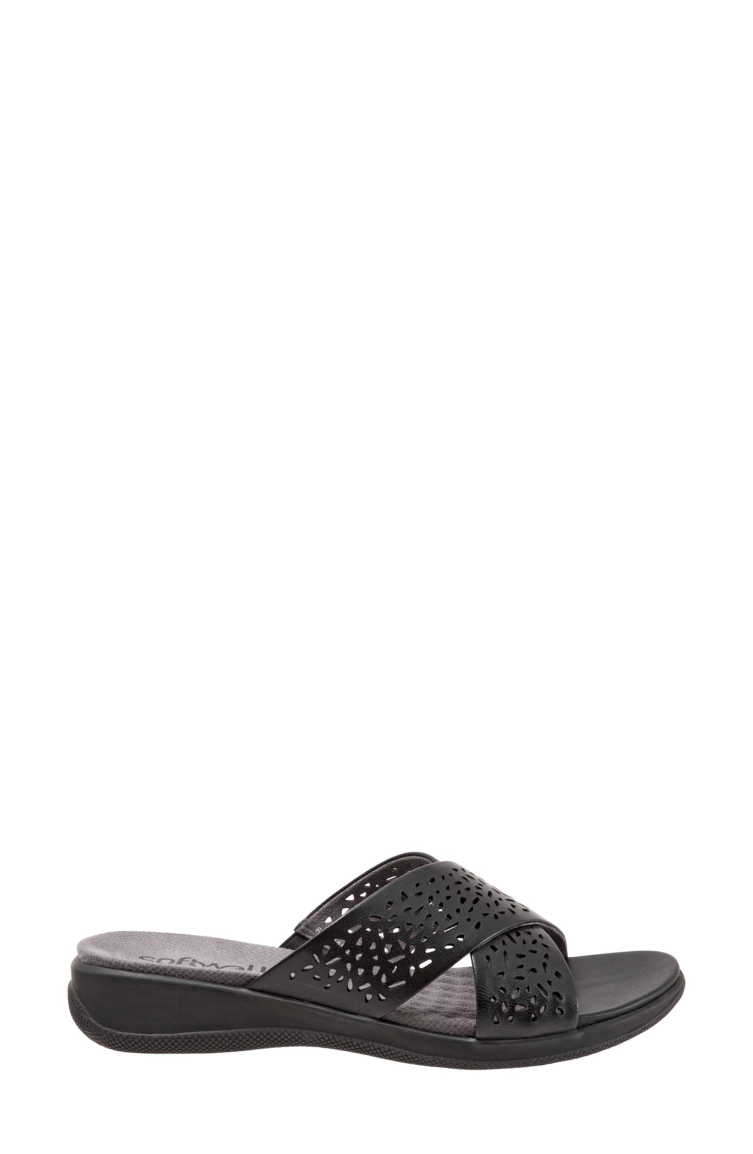 'Tillman' Leather Cross Strap Slide Sandal,                             Alternate thumbnail 3, color,                             006