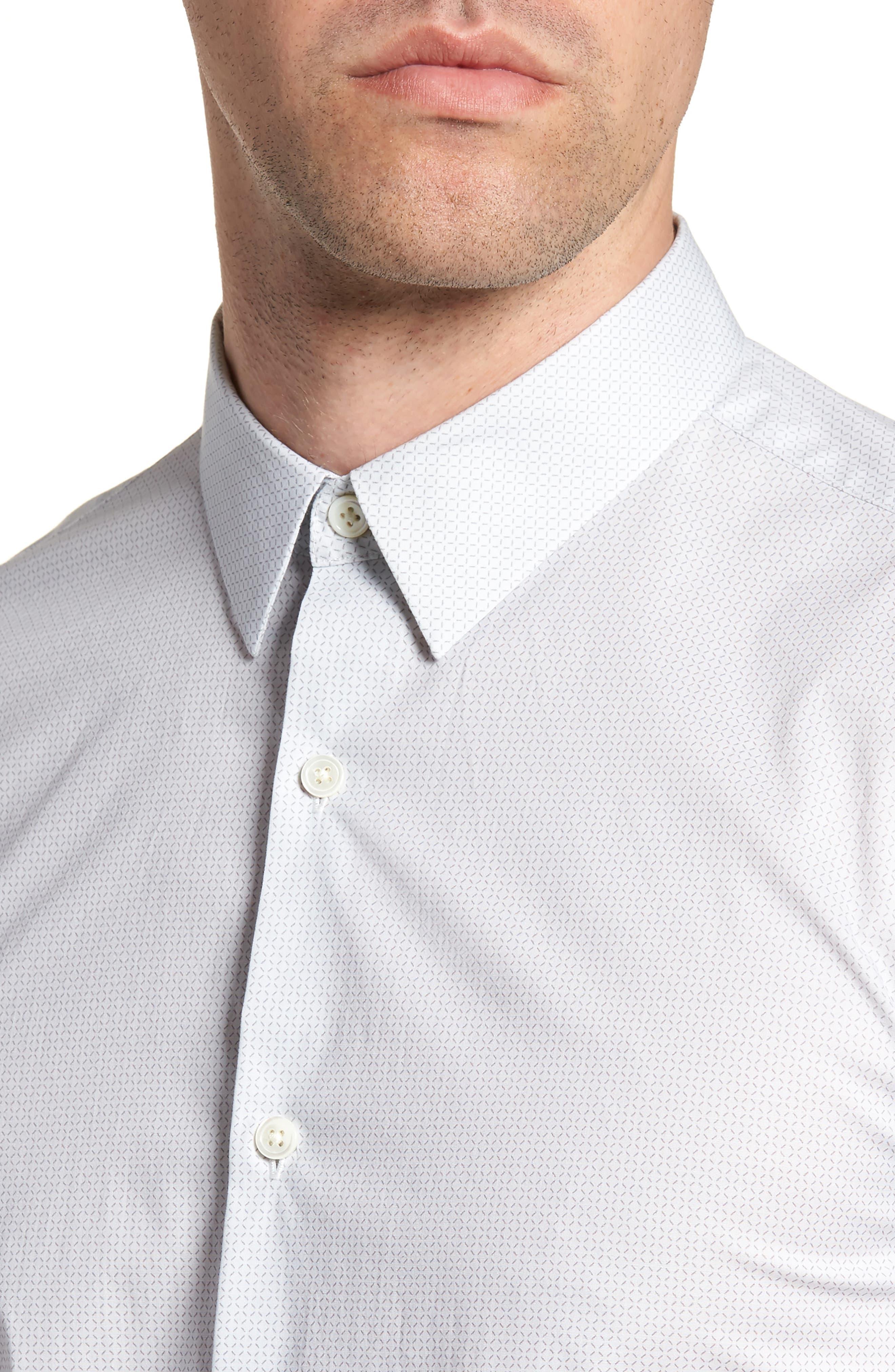 Irving Sillar Slim Fit Sport Shirt,                             Alternate thumbnail 4, color,                             097