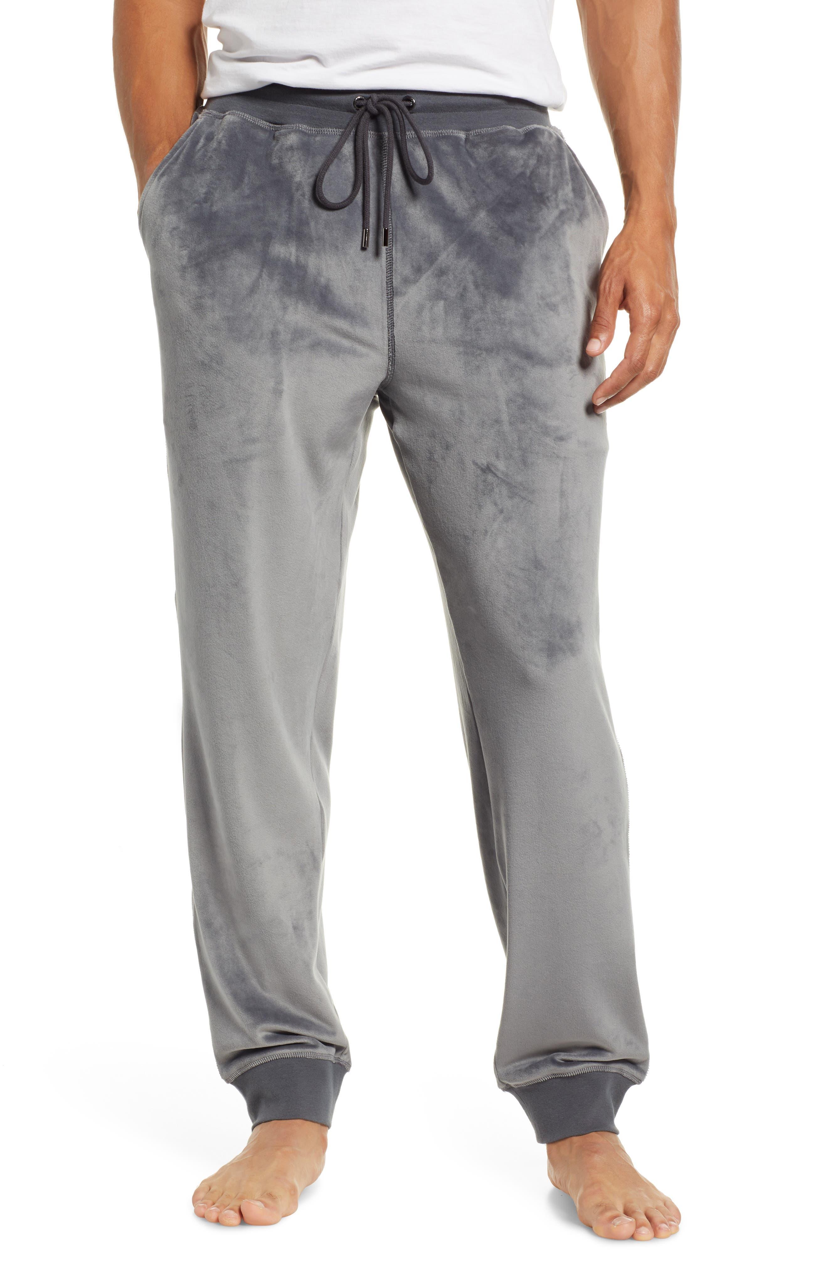 Velour Lounge Pants,                         Main,                         color, GREY
