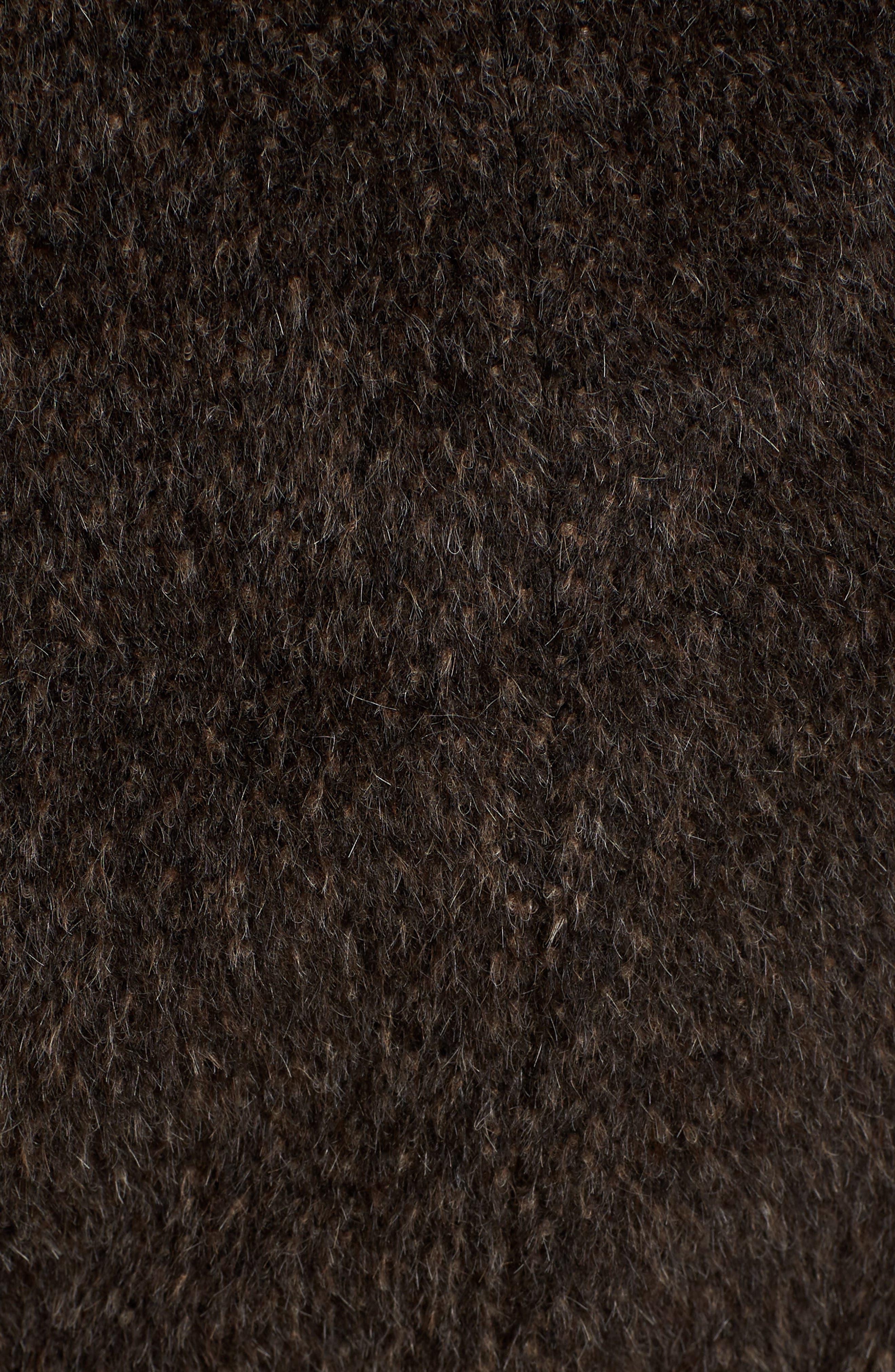 Grace Hooded Wrap Walker Coat,                             Alternate thumbnail 7, color,                             BROWN/ BLACK