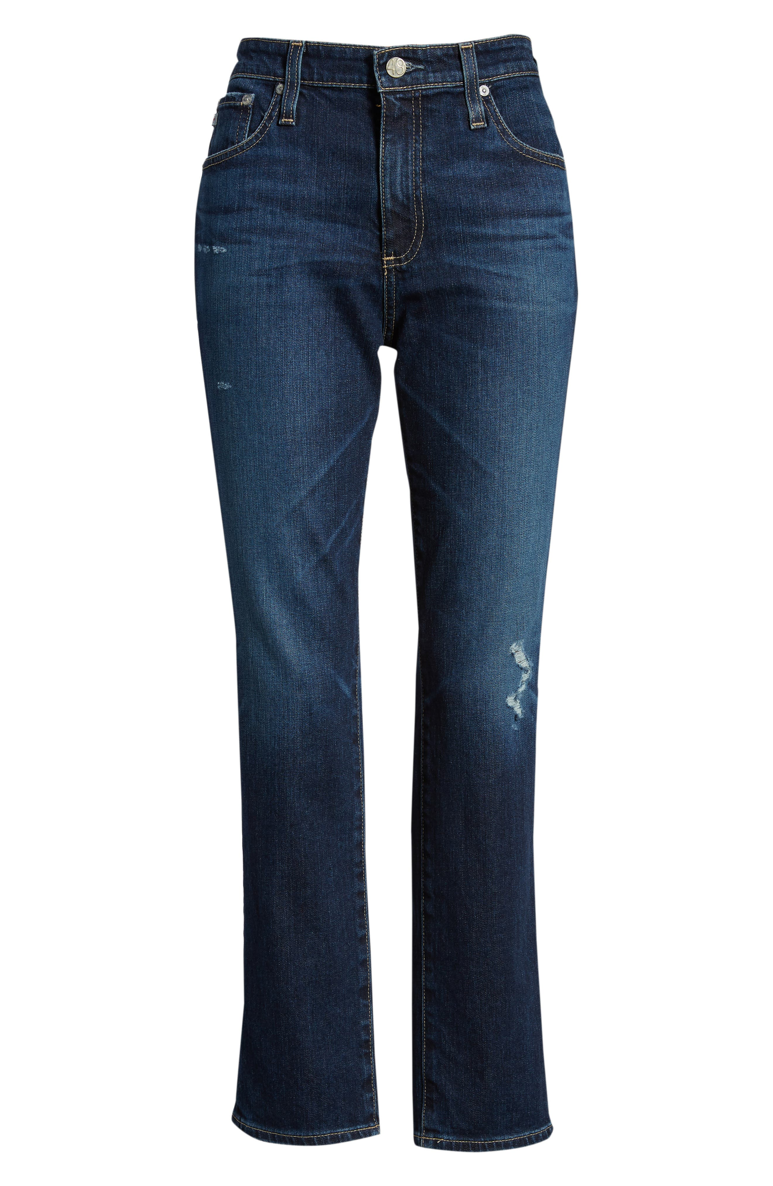 The Isabelle High Waist Crop Straight Leg Jeans,                             Alternate thumbnail 7, color,                             12 YEARS VERBIAGE