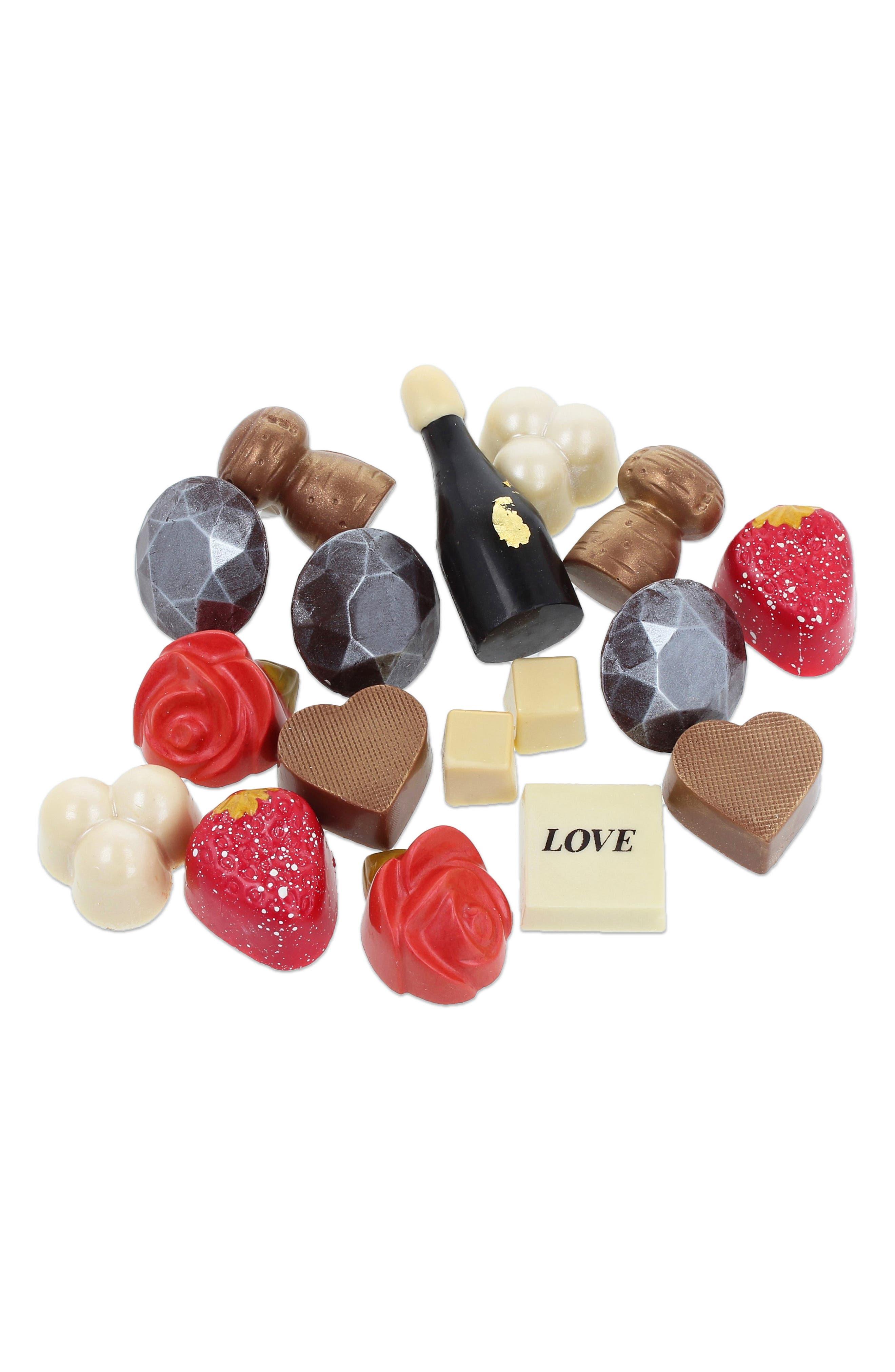MAGGIE LOUISE CONFECTIONS,                             Lovestruck 16-Piece Chocolate Set,                             Alternate thumbnail 2, color,                             WHITE