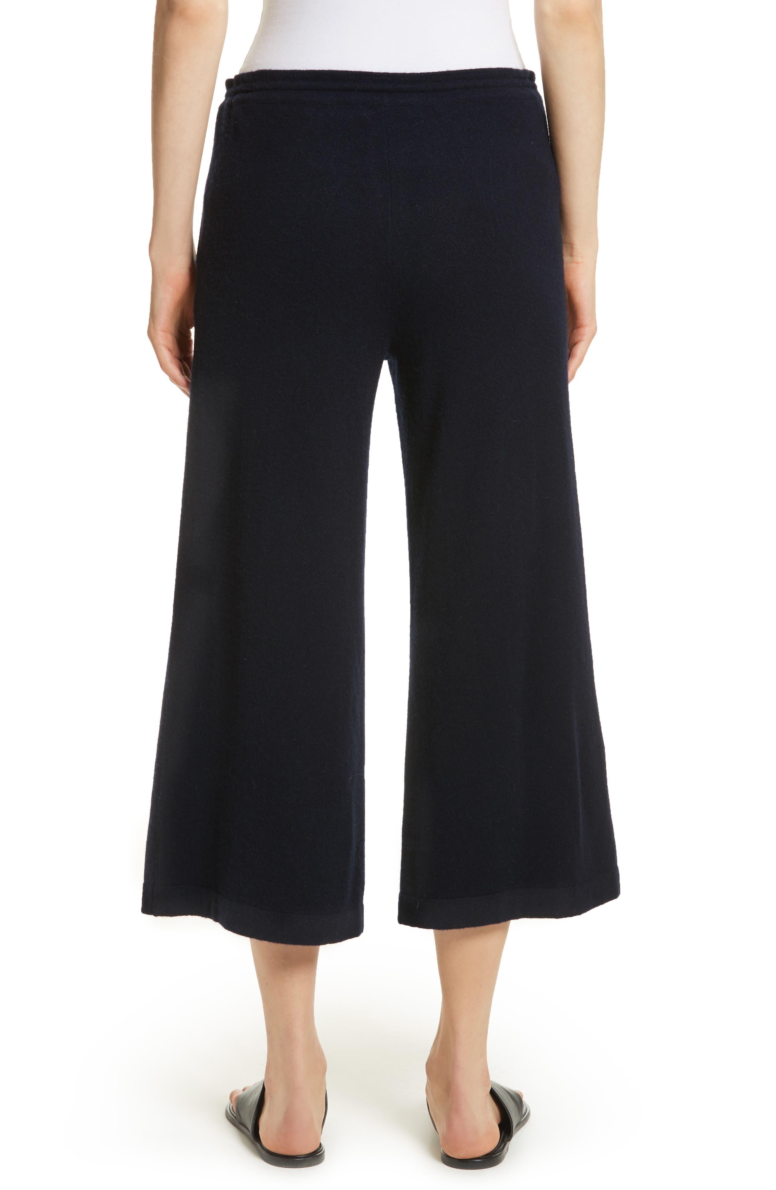 Wide Leg Wool & Cashmere Knit Crop Pants,                             Alternate thumbnail 2, color,                             403