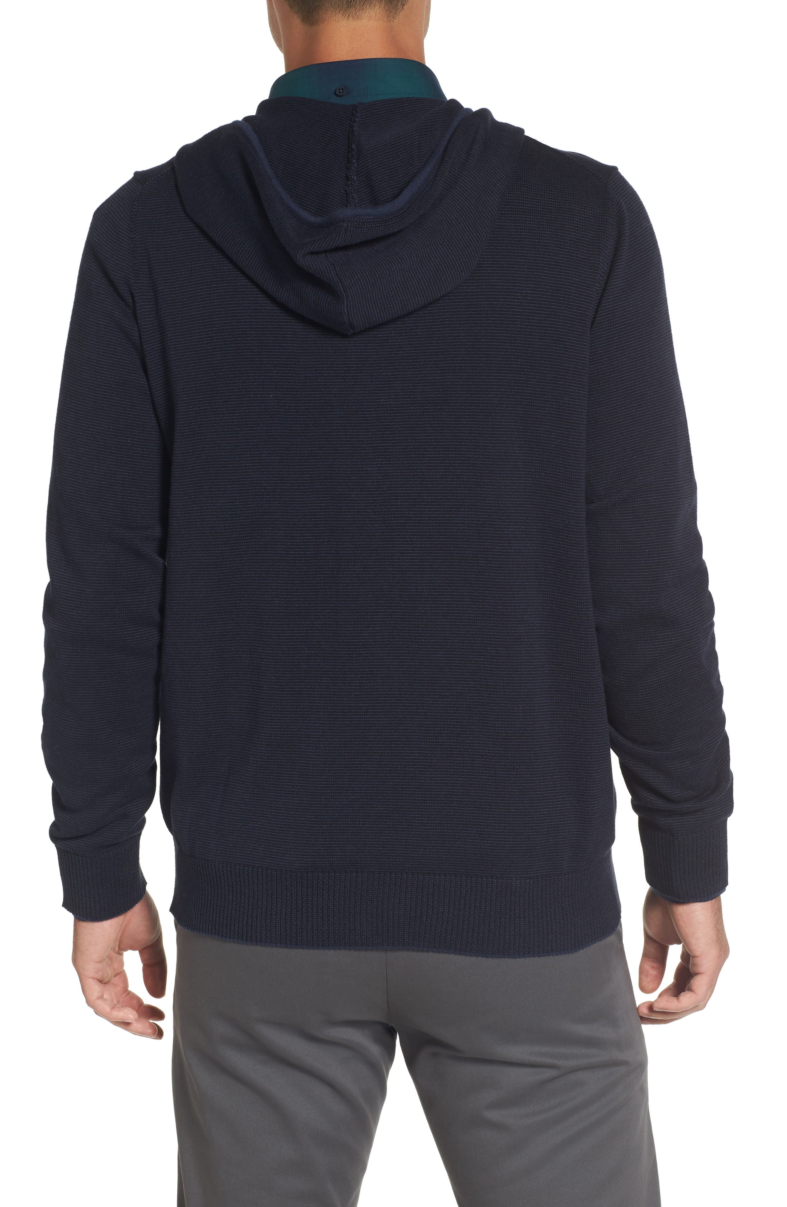 Zip Front Hooded Sweater,                             Alternate thumbnail 6, color,