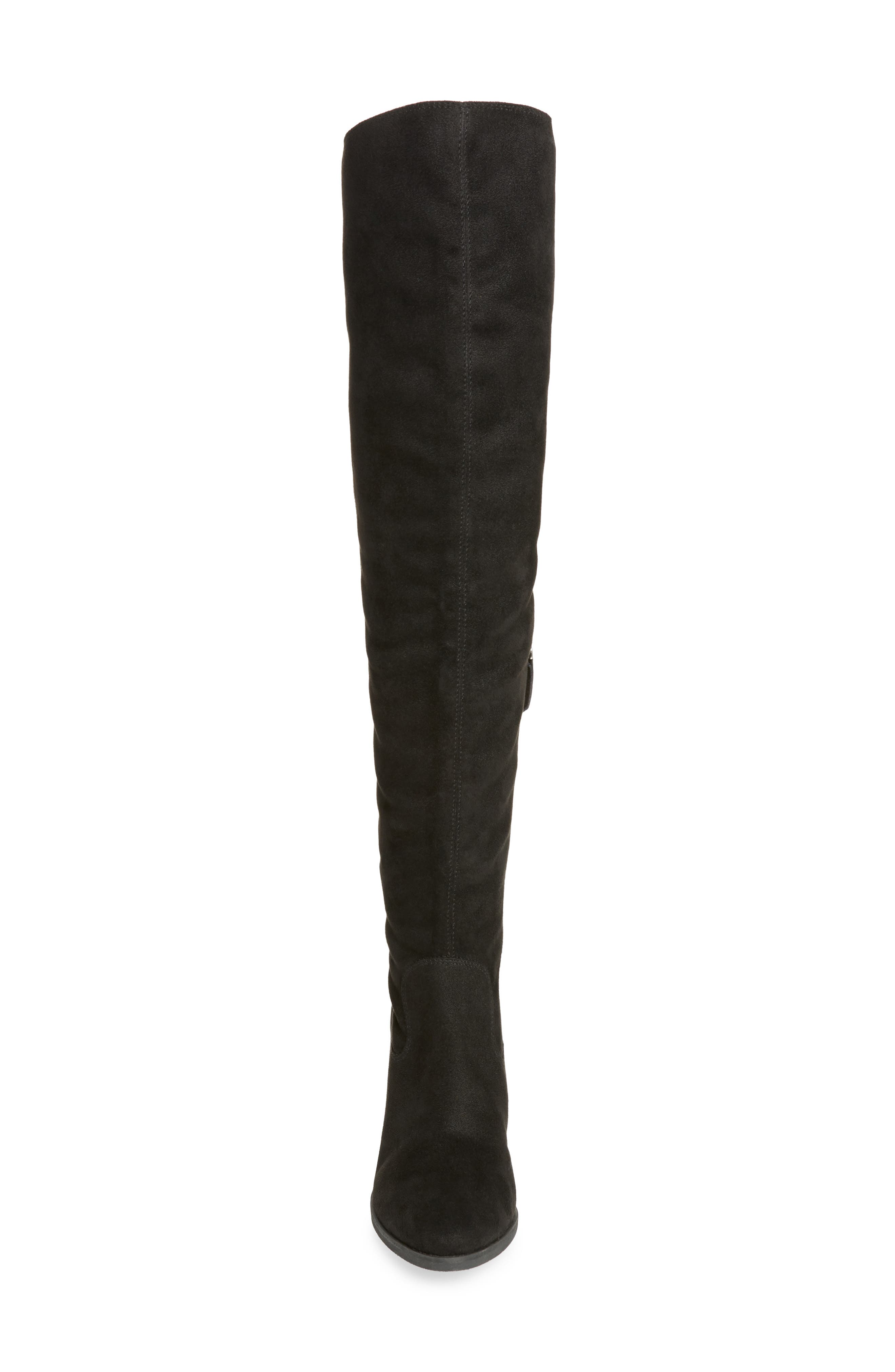 Logan Over the Knee Boot,                             Alternate thumbnail 4, color,                             001