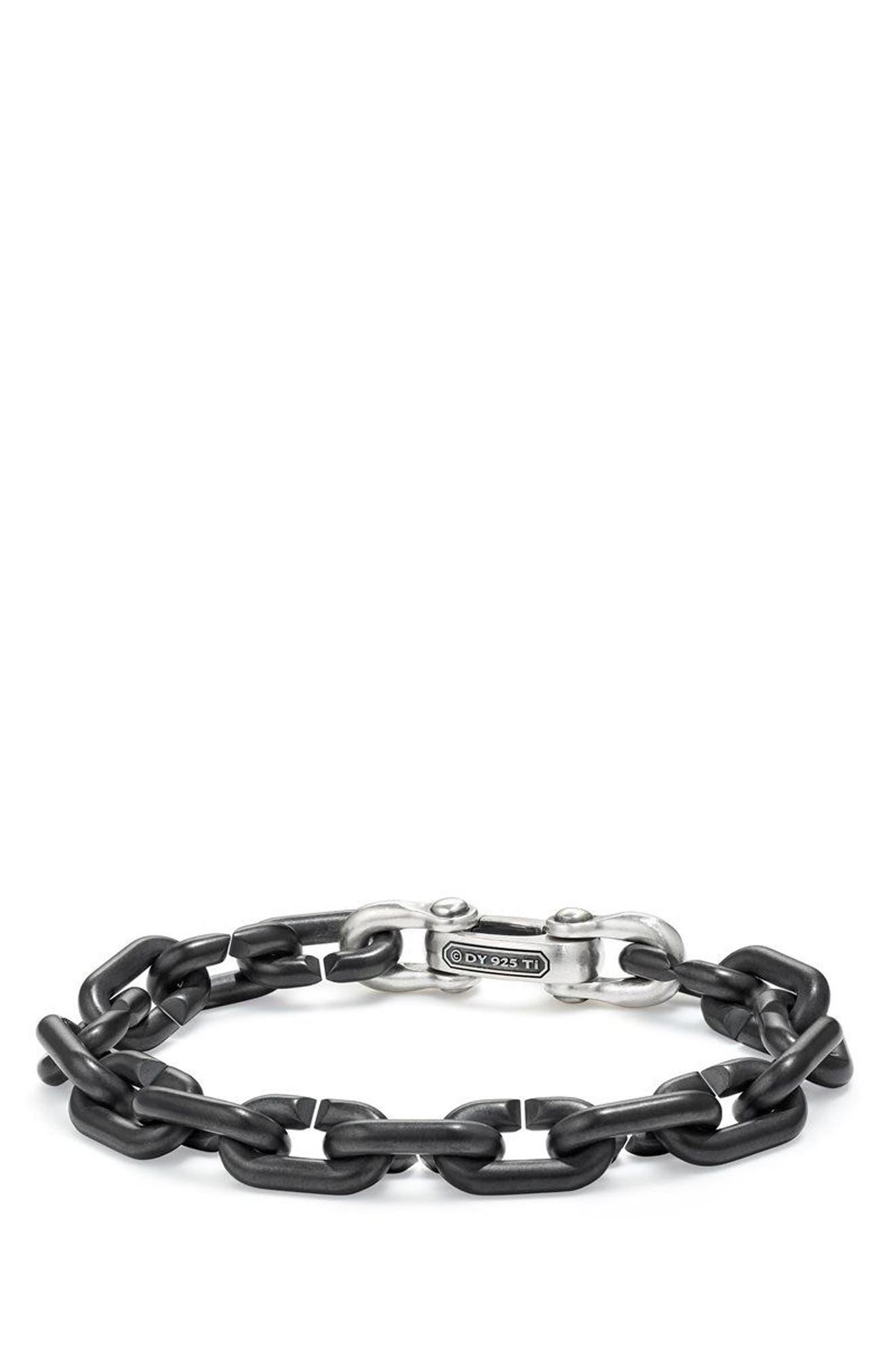 DAVID YURMAN,                             Bold Chain Links Bracelet,                             Main thumbnail 1, color,                             TITANIUM