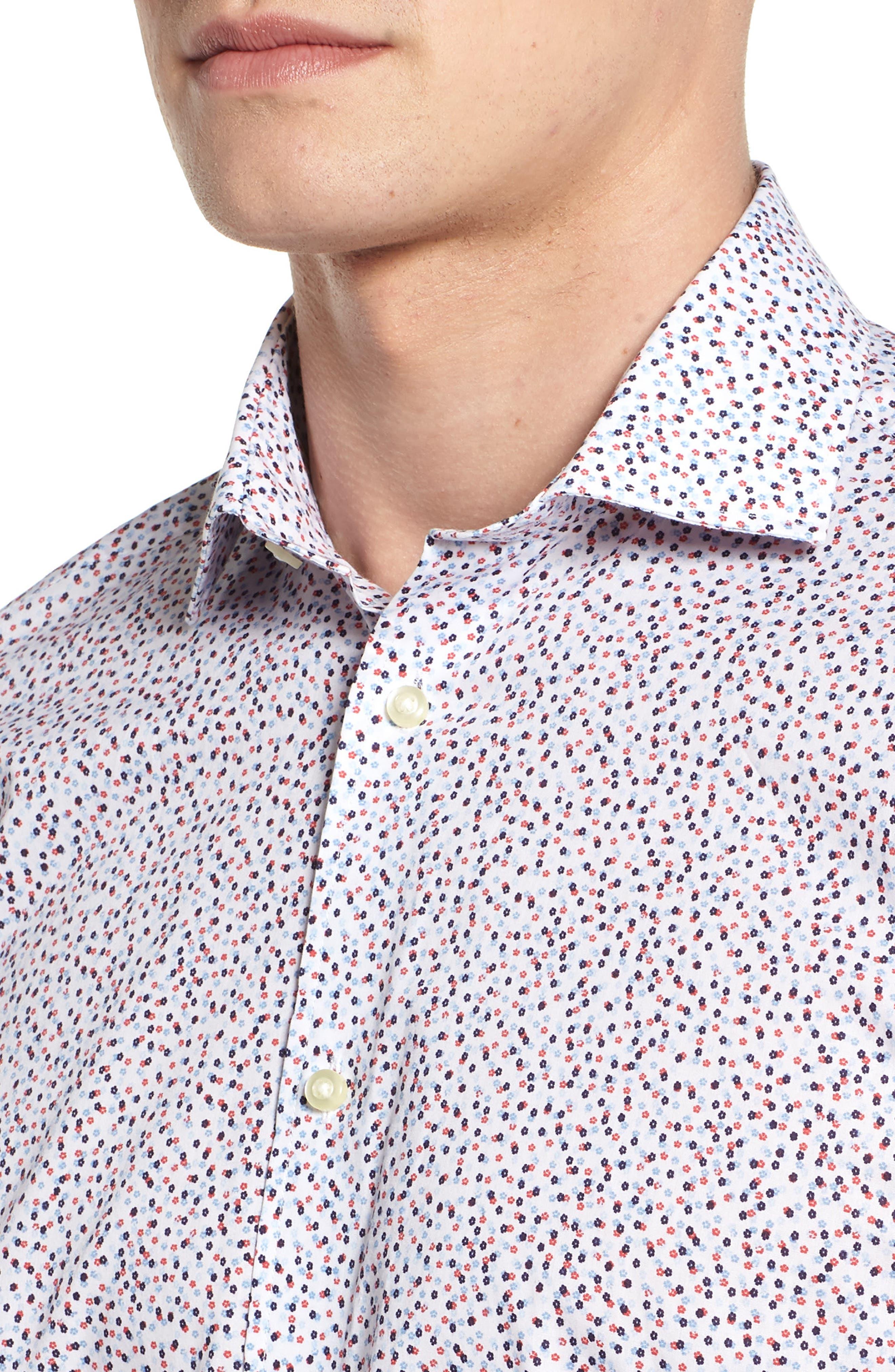 Microprint Sport Shirt,                             Alternate thumbnail 4, color,                             400