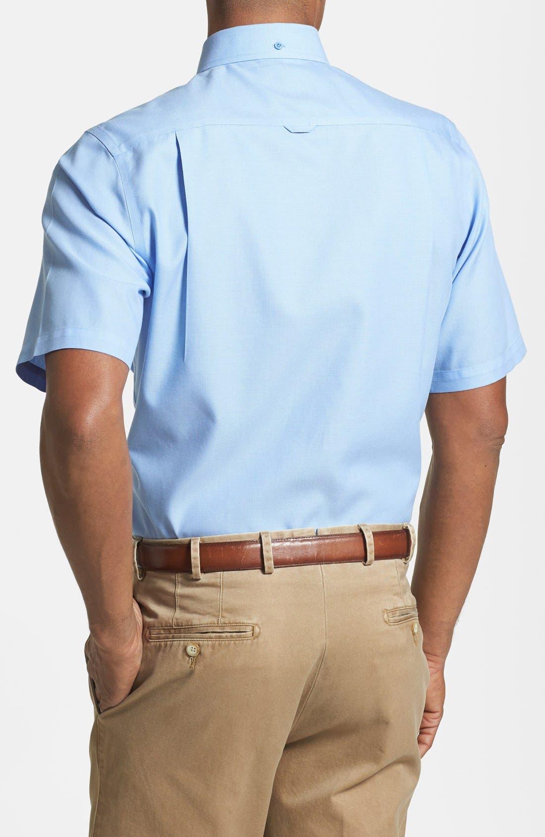 'Classic' Smartcare<sup>™</sup> Regular Fit Short Sleeve Cotton Sport Shirt,                             Alternate thumbnail 76, color,