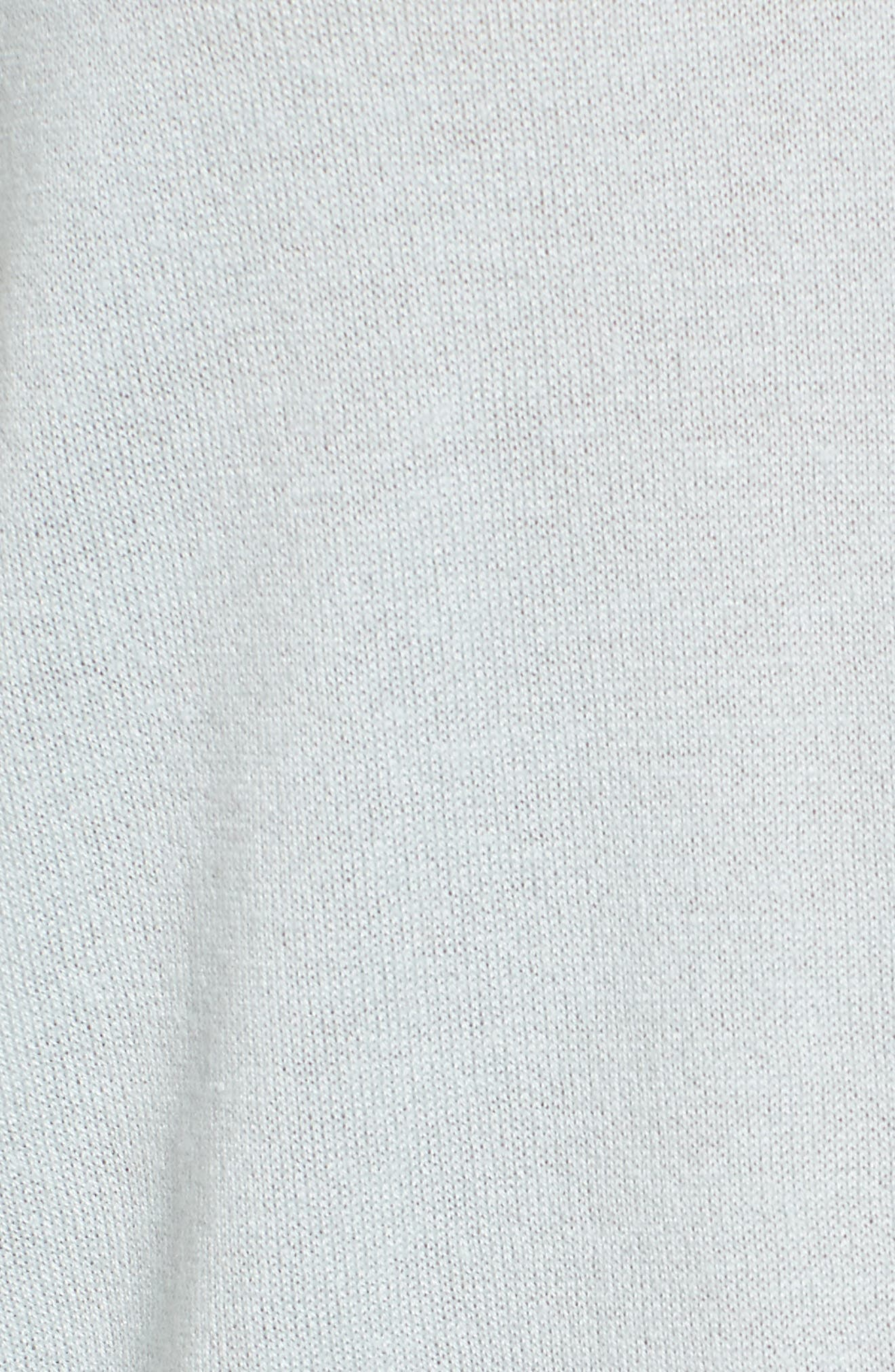 High/Low Silk & Cashmere Sweater,                             Alternate thumbnail 6, color,                             330