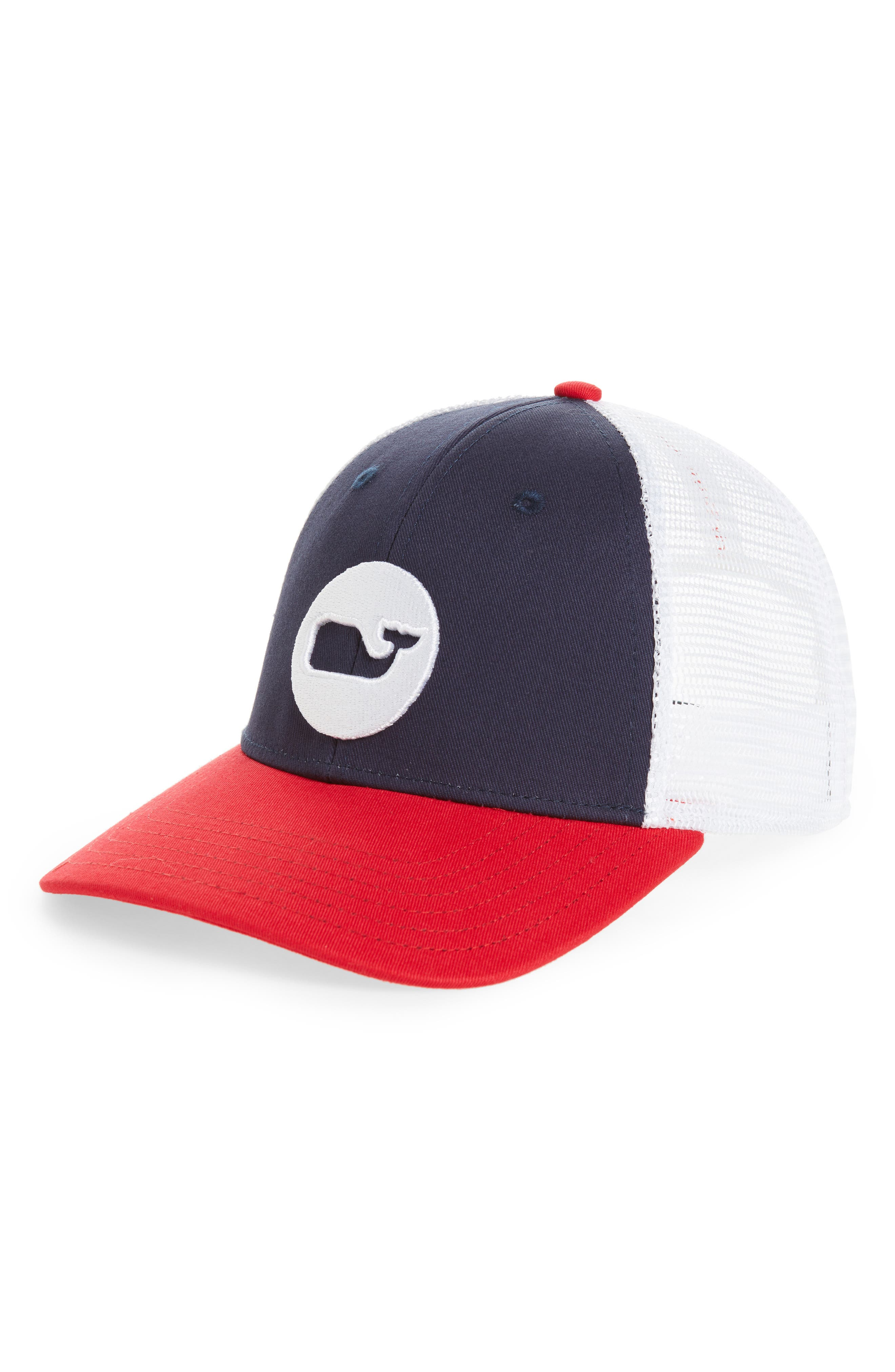 Whale Dot Trucker Cap,                             Main thumbnail 1, color,