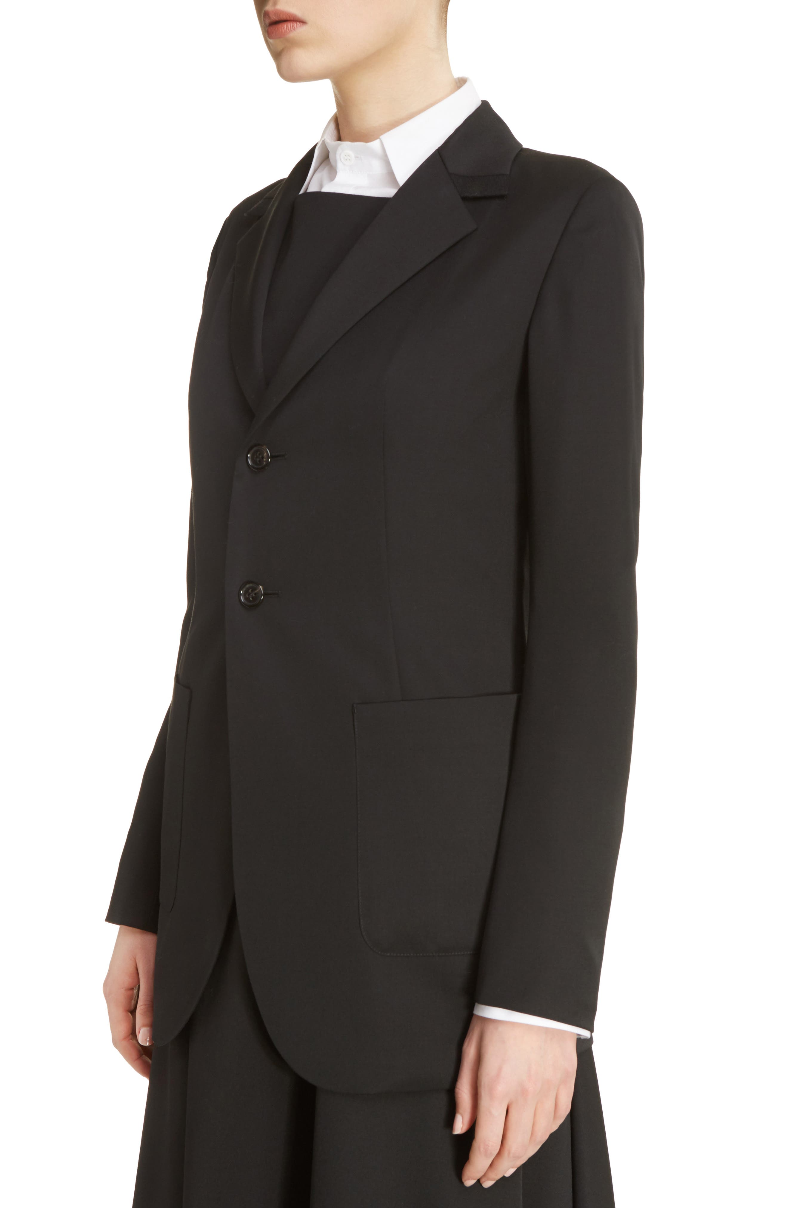 U-Out P Tailored Wool Jacket,                             Alternate thumbnail 4, color,                             001