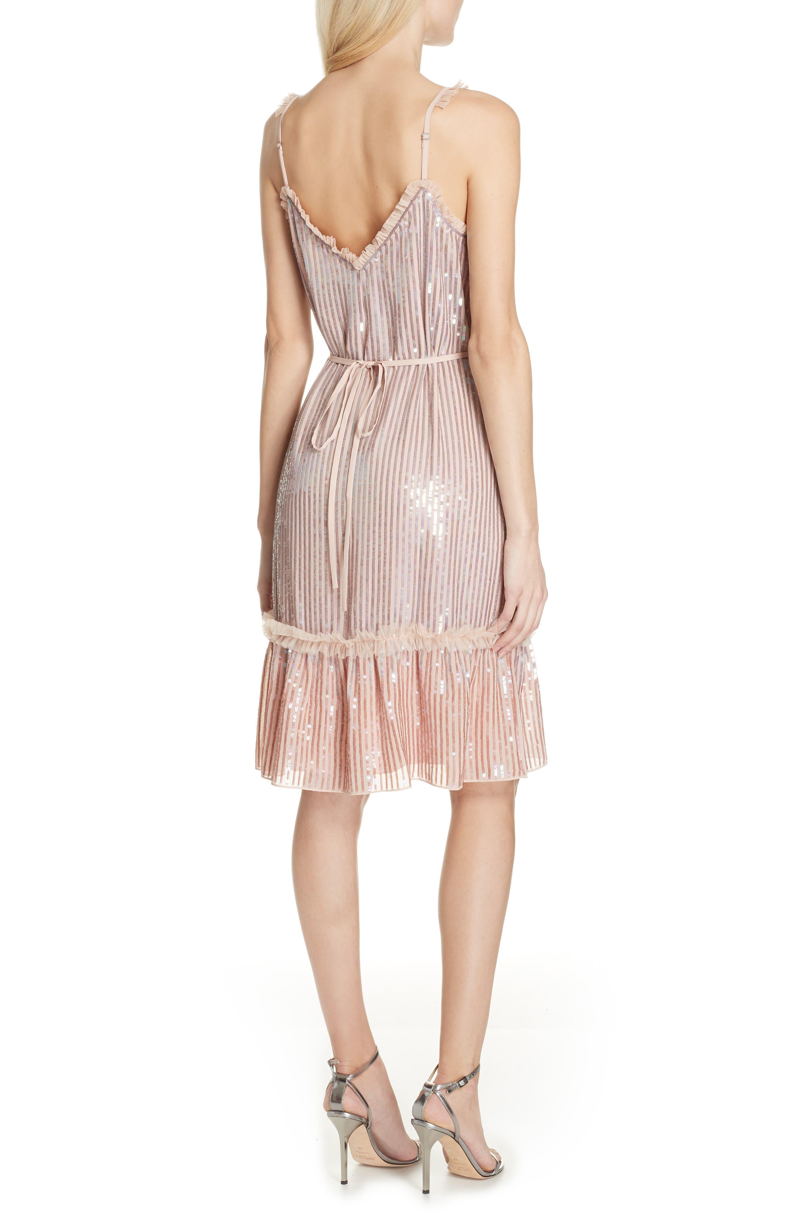 Gloss Sequin Ruffle Dress,                             Alternate thumbnail 2, color,                             DUSK BLUE