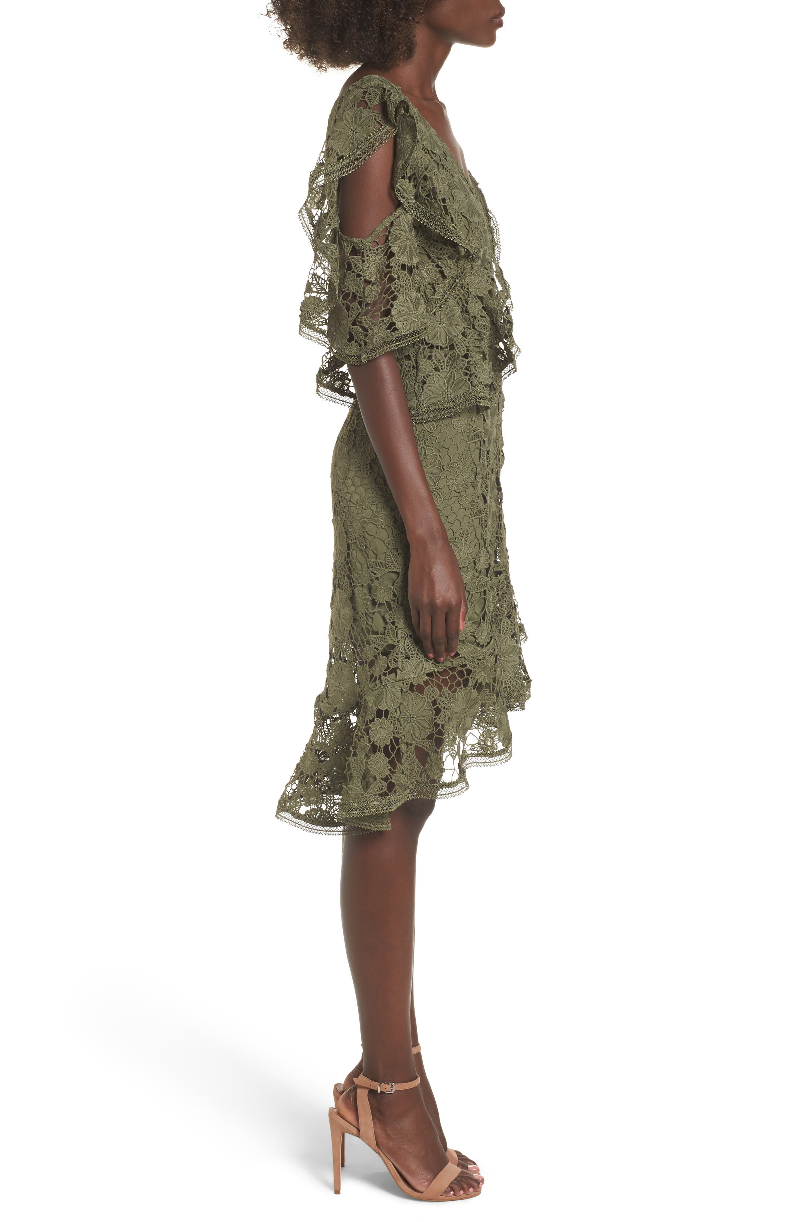 Frameless Lace Sheath Dress,                             Alternate thumbnail 3, color,                             300