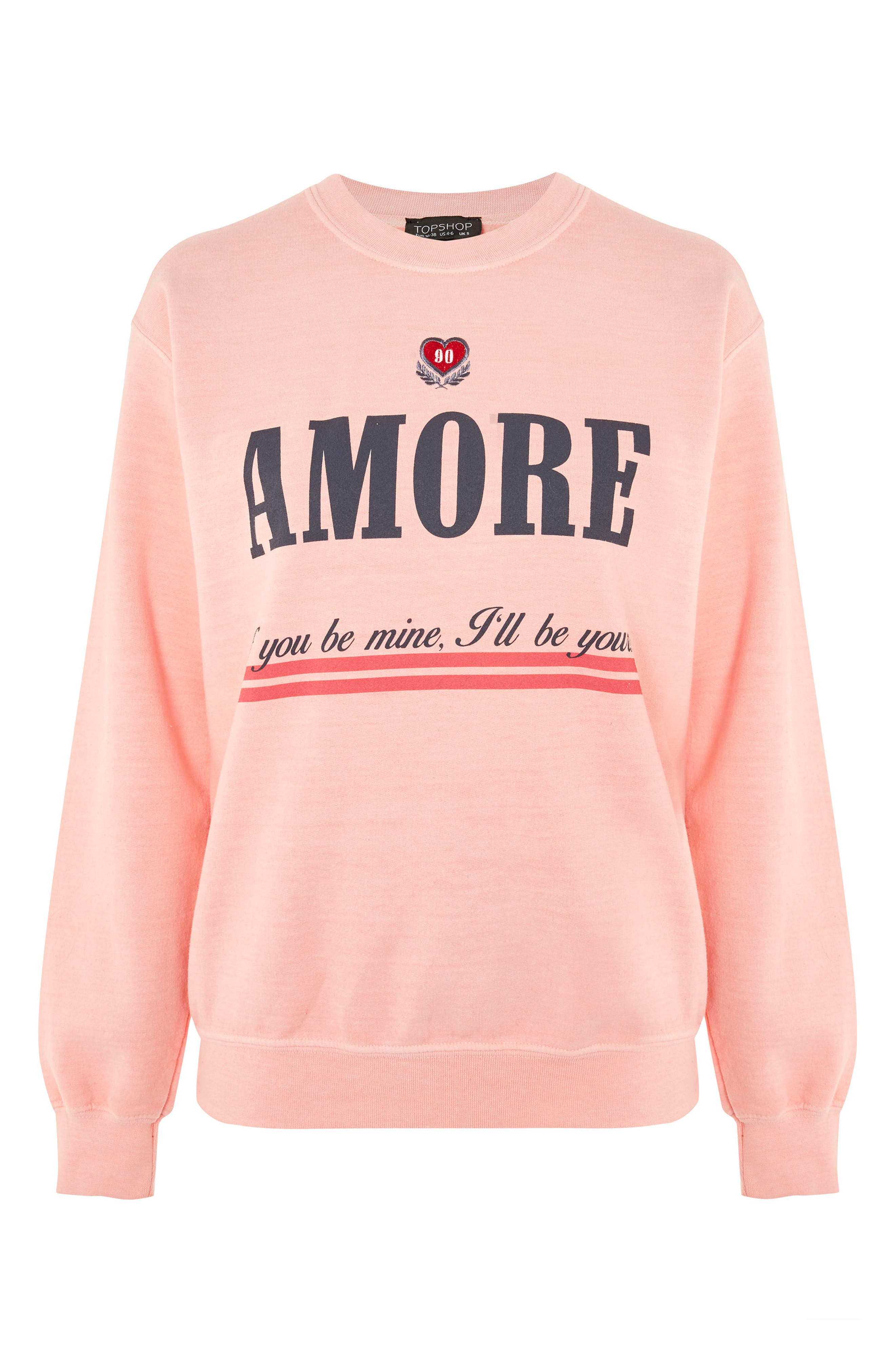 Embroidered Amore Sweatshirt,                             Alternate thumbnail 3, color,                             950