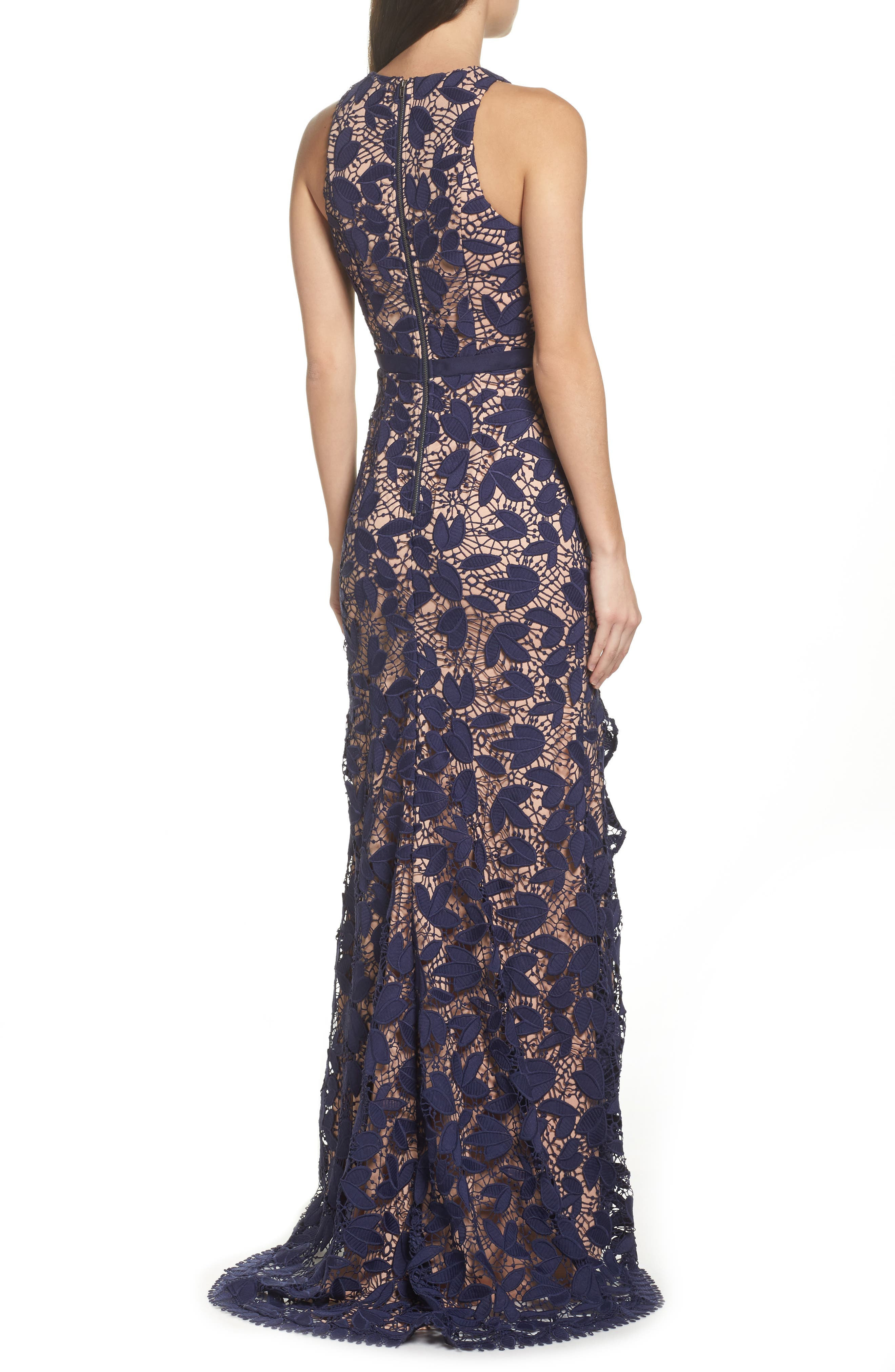 Petal Lace Gown,                             Alternate thumbnail 2, color,                             410