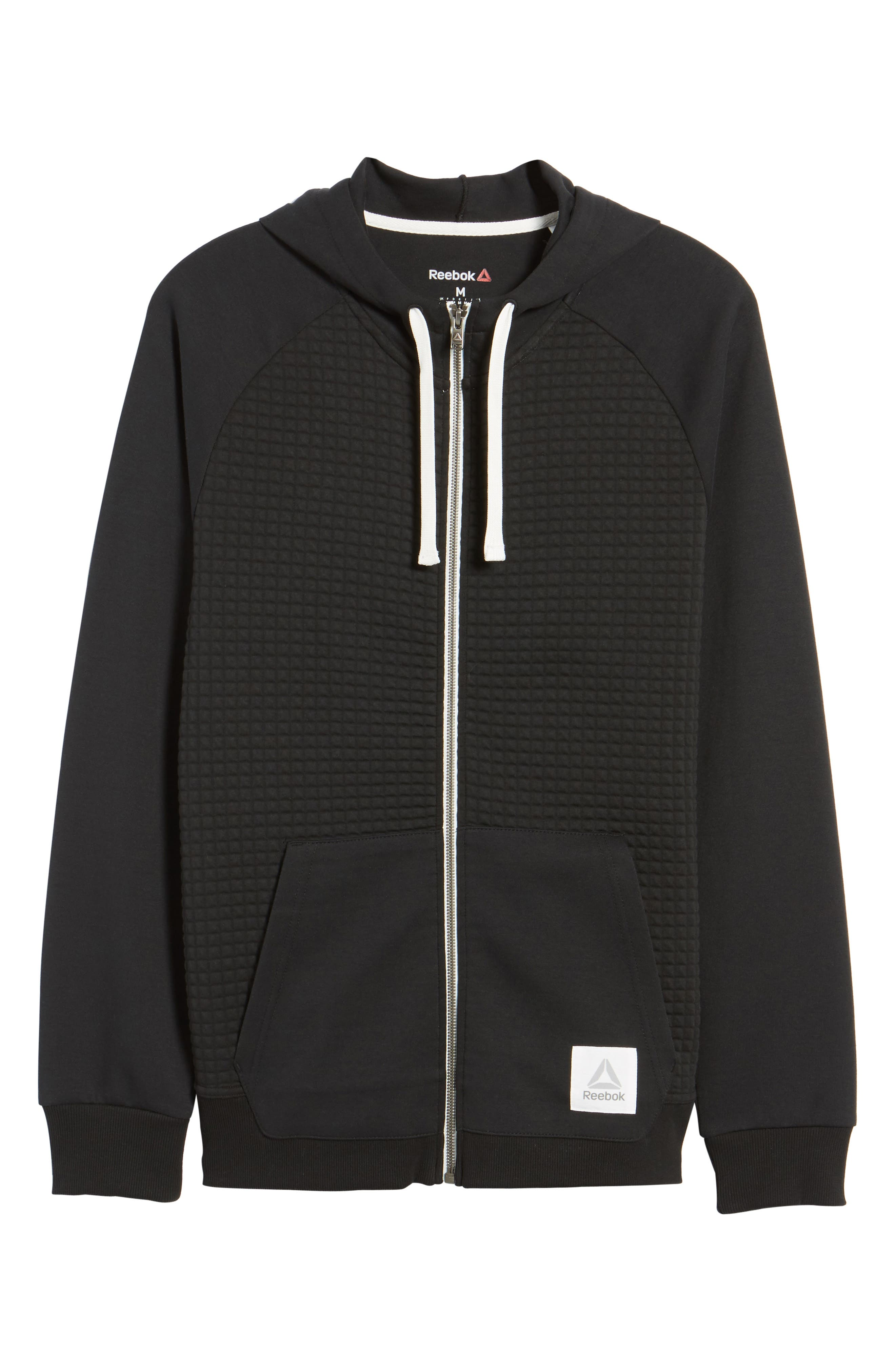 Classic Quilted Zip Hoodie,                             Alternate thumbnail 16, color,