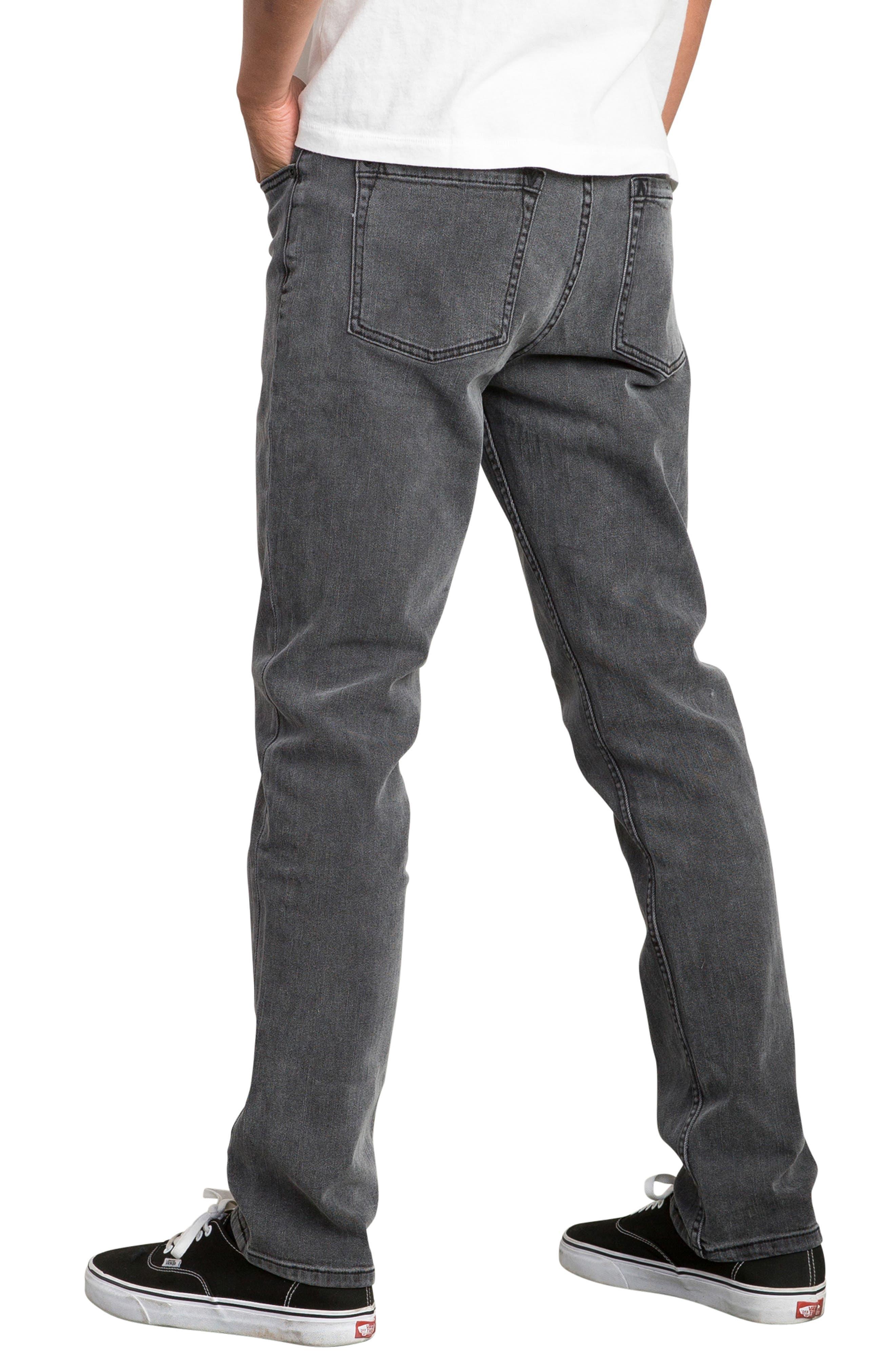 Daggers Slim Straight Leg Jeans,                             Alternate thumbnail 3, color,                             VINTAGE CHARCOAL