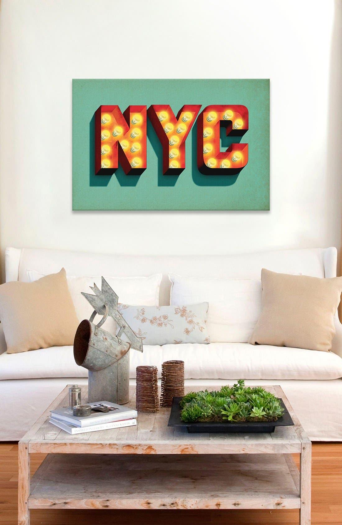 'NYC' Giclée Print Canvas Art,                             Alternate thumbnail 2, color,                             300
