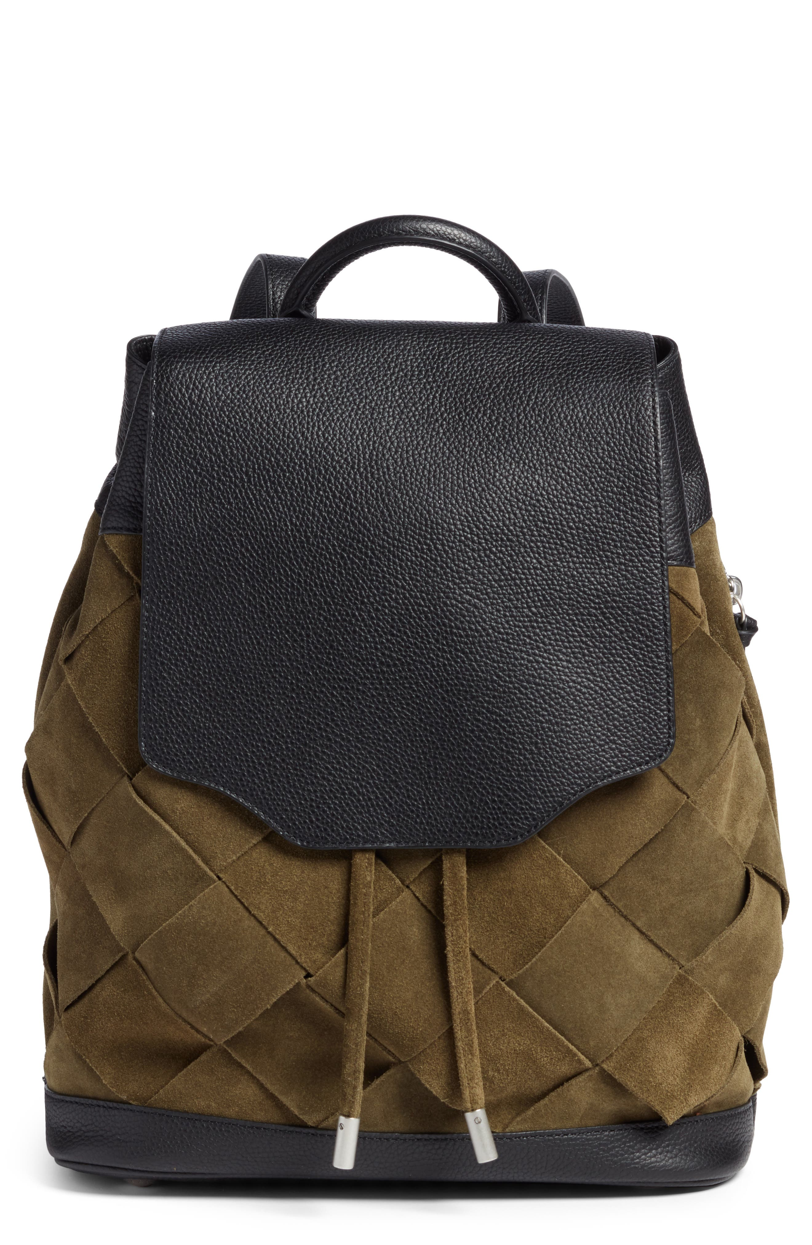 Pilot Suede & Leather Backpack,                         Main,                         color, 300