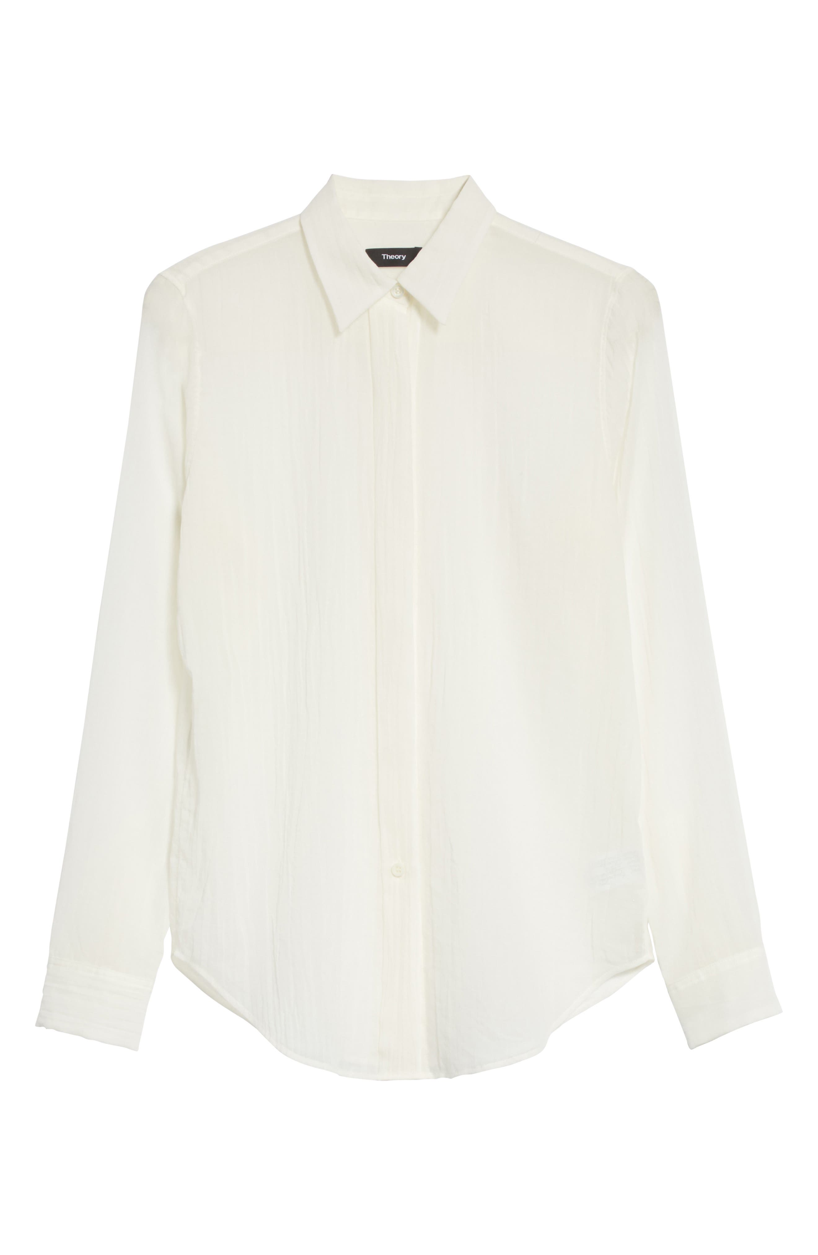Essential Button-Down Cotton Shirt,                             Alternate thumbnail 12, color,