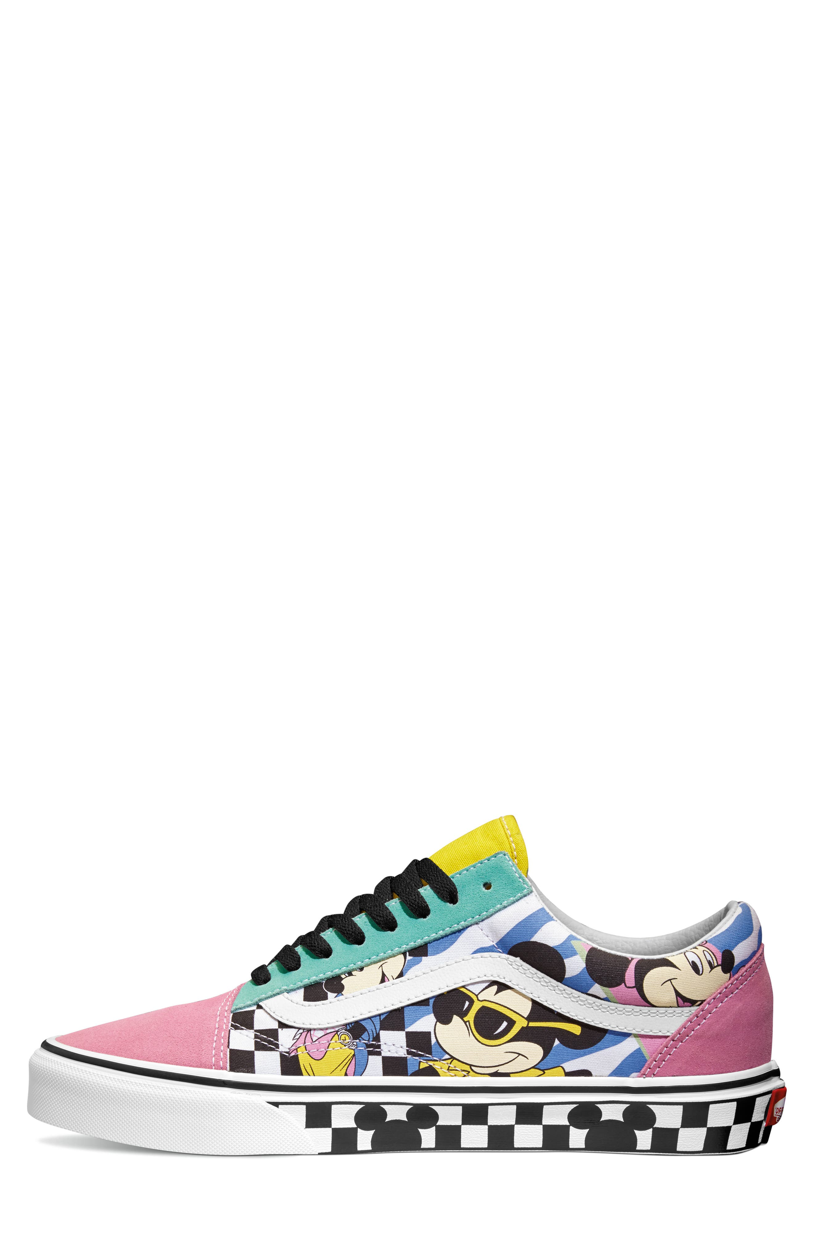x Disney Old Skool Sneaker,                             Alternate thumbnail 2, color,                             DISNEY 80S MICKEY/ TRUE WHITE