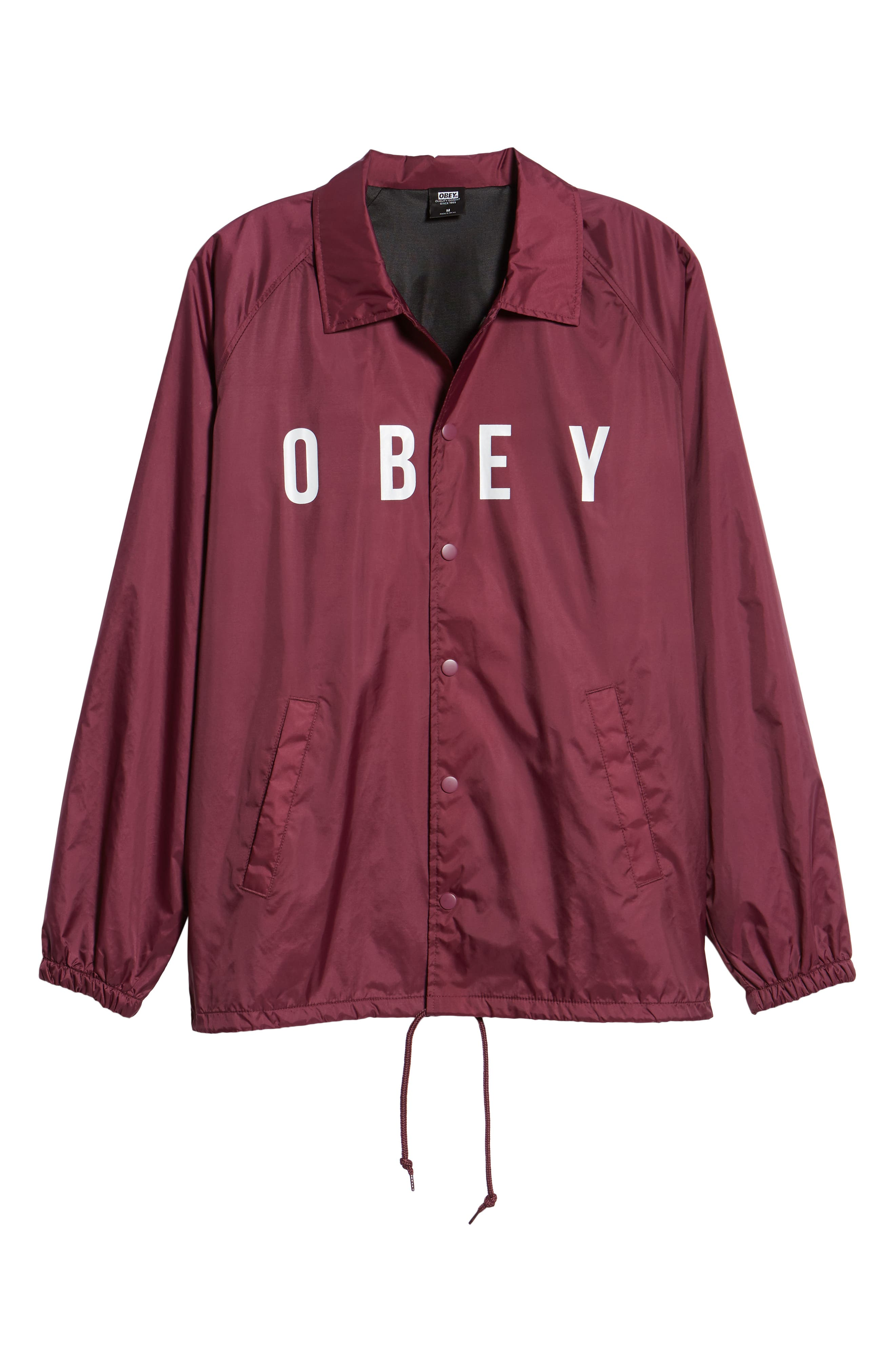 Anyway Snap Front Hooded Coach's Jacket,                             Alternate thumbnail 6, color,                             RASPBERRY