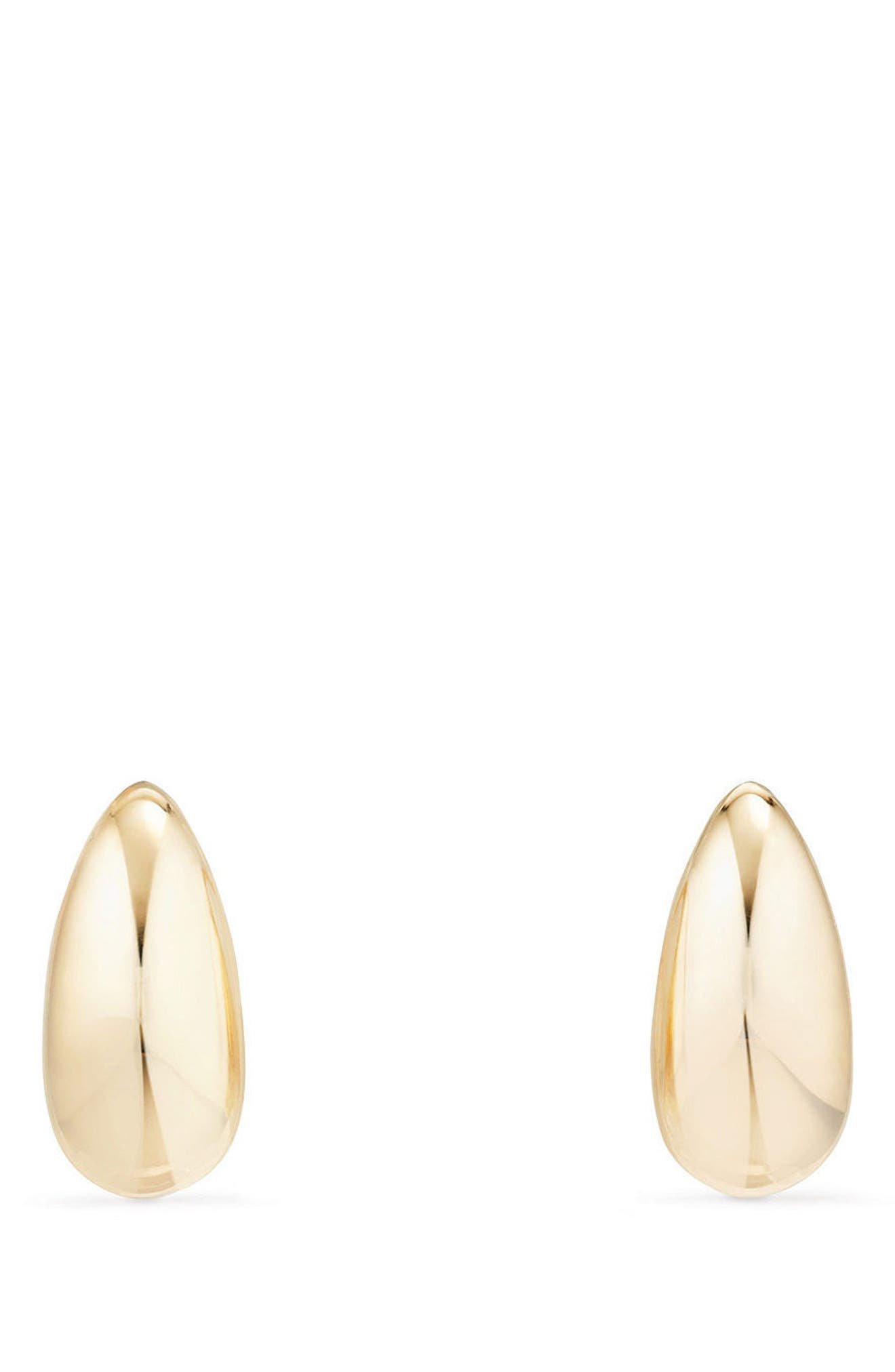 Pure Form Pod Earrings with Diamonds in 18K Gold, 15mm,                             Main thumbnail 1, color,                             YELLOW GOLD