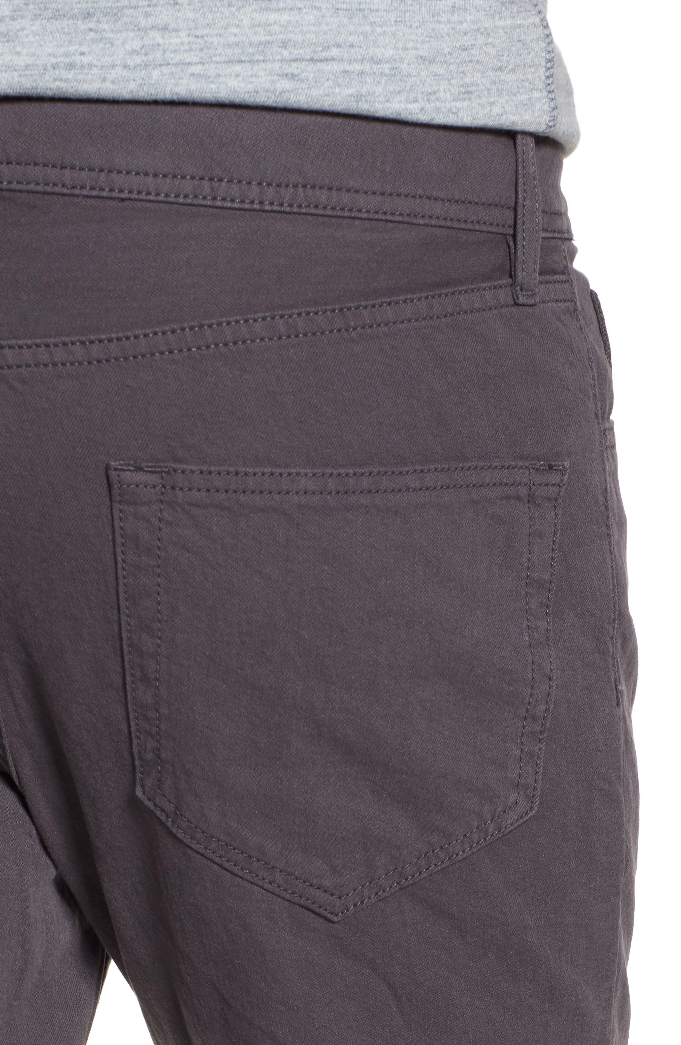 Slim Fit Twill Pants,                             Alternate thumbnail 5, color,                             037