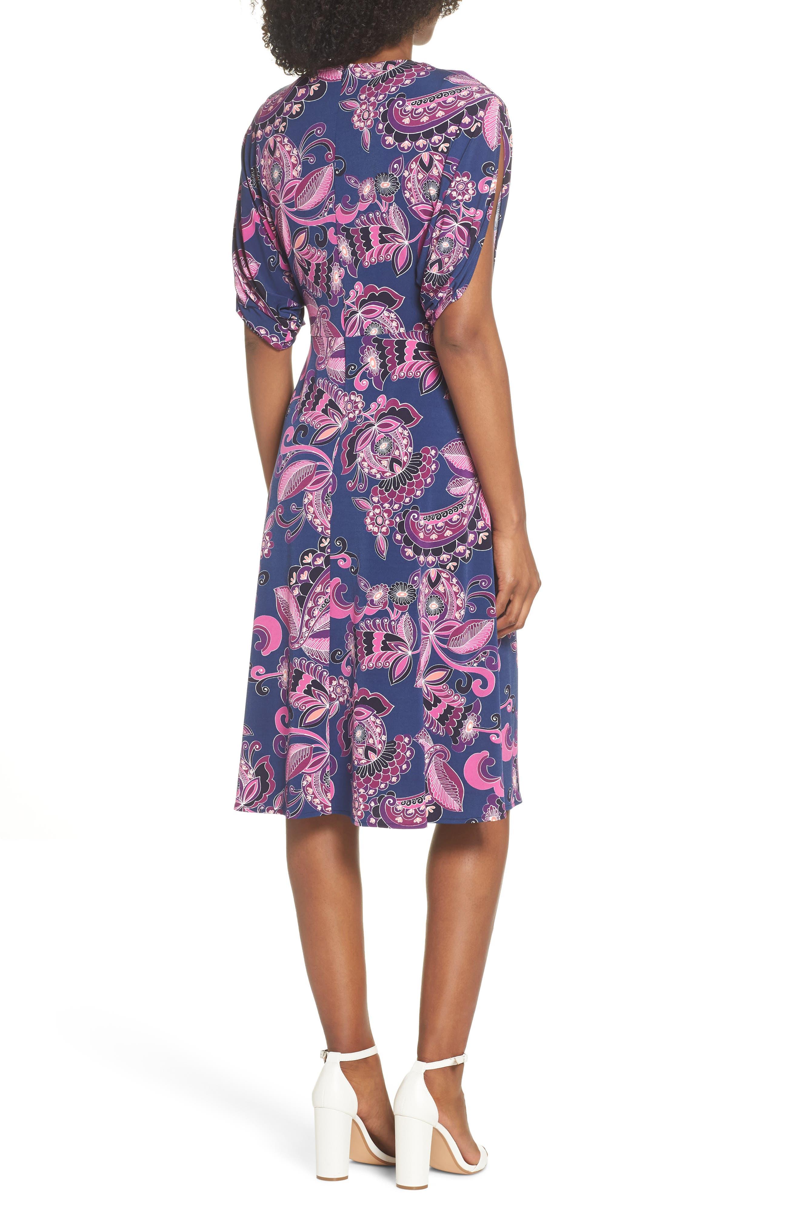 Payton Print Jersey Dress,                             Alternate thumbnail 2, color,                             MULTI